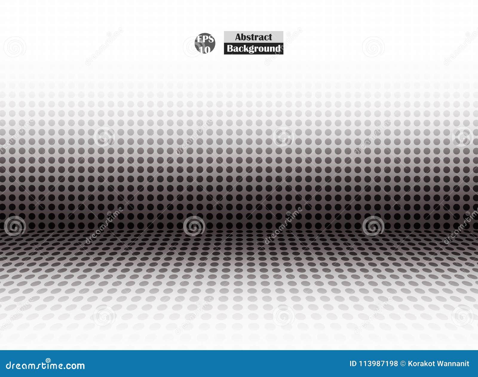 Résumé du point noir tramé de la perspective vide, présentation simple