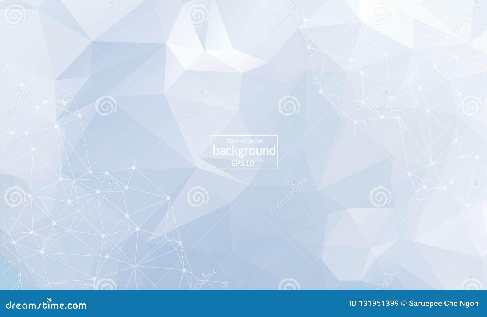 Résumé géométrique avec la ligne et les points reliés Fond sans couture graphique Contexte polygonal élégant moderne pour votre c