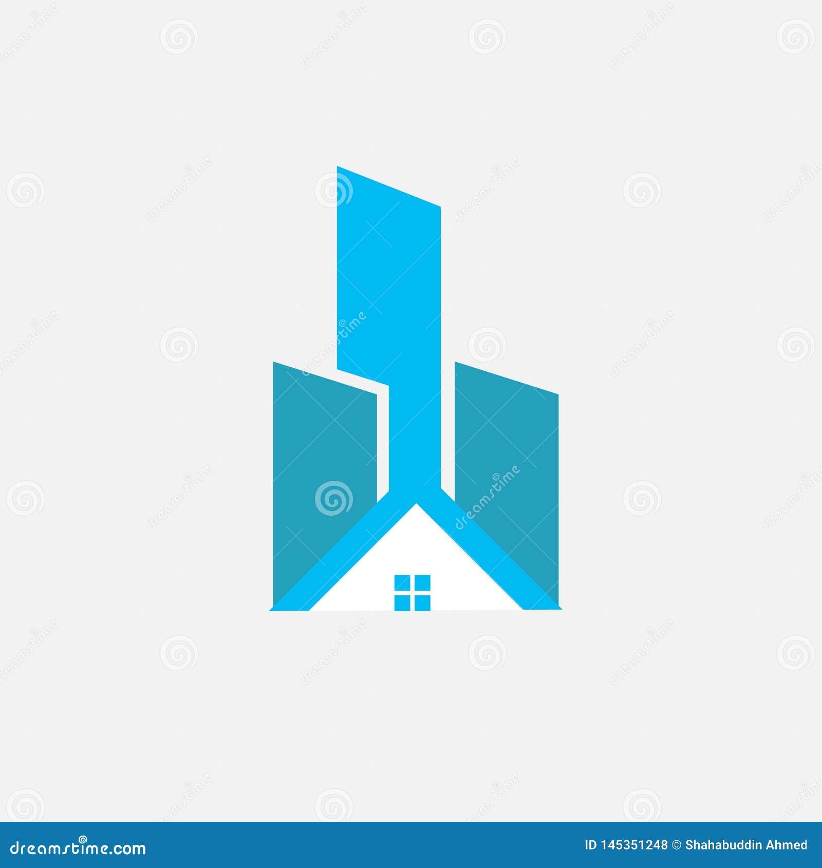R?sum? Real Estate Logo Design Logo de Chambre pour votre soci?t?