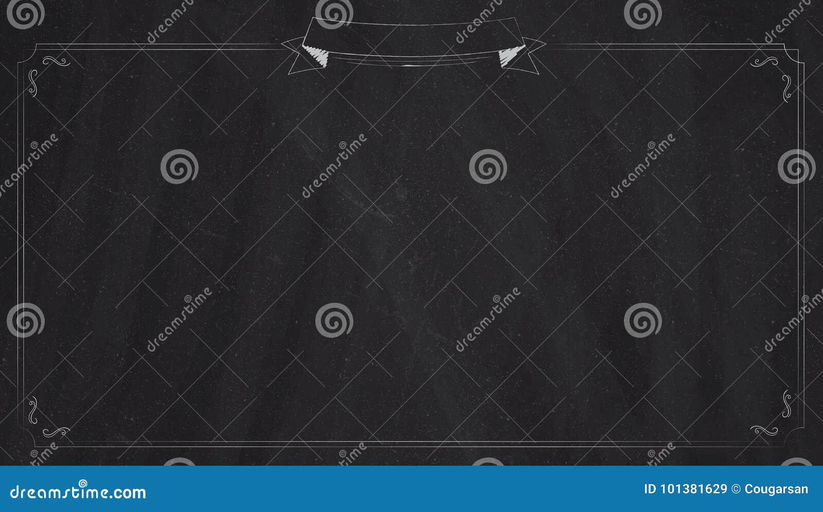 Retro Ecran Geant De Fond De Tableau Noir De Menu Large Illustration De Vecteur Illustration Du Large Noir 101381629