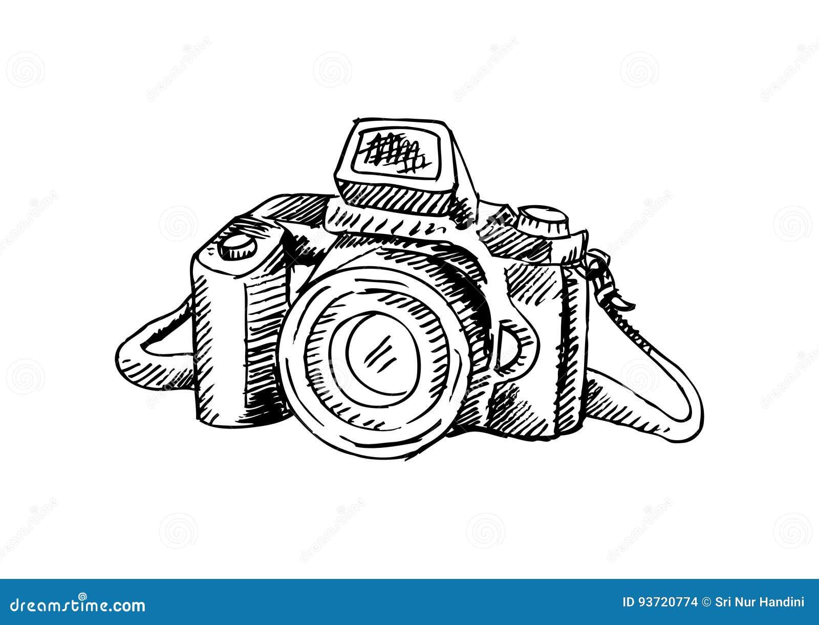 Retro Appareil Photo De Photo Illustration De Dessin De Main Illustration Stock Illustration Du Retro Dessin 93720774