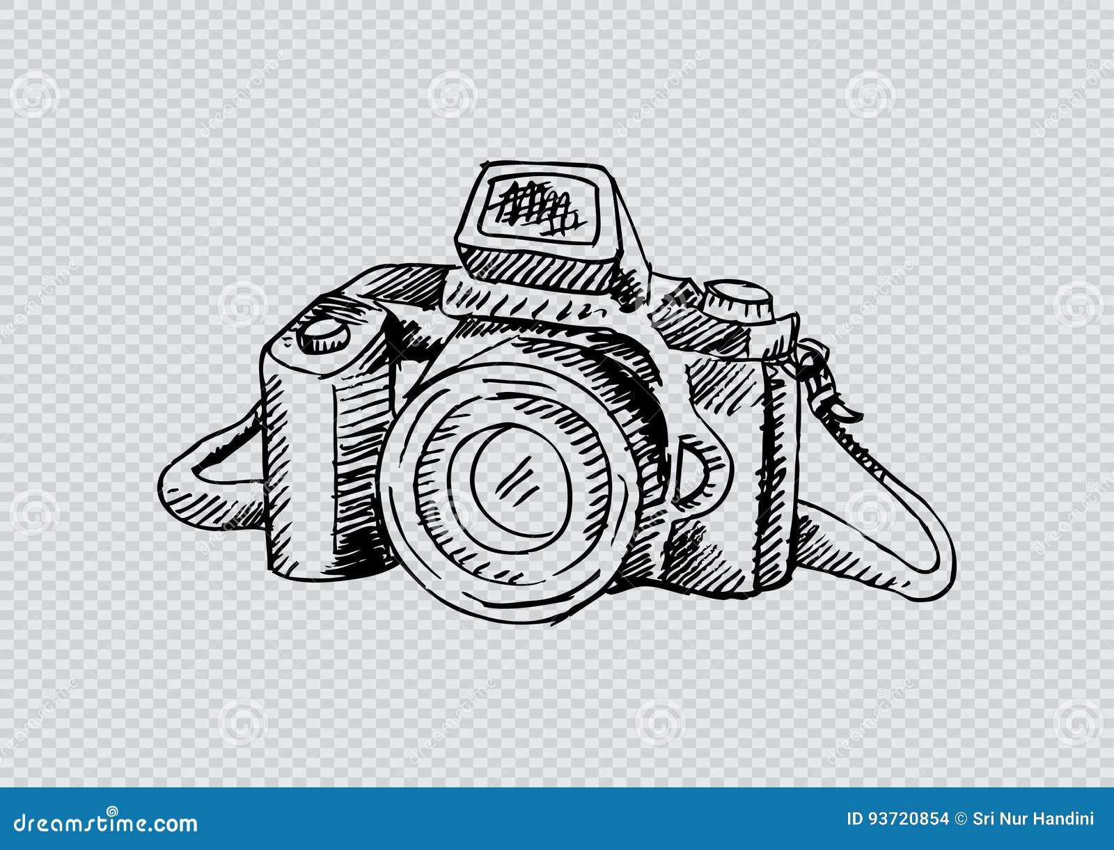 Dessin Appareil Photo rétro appareil-photo de photo illustration de dessin de main