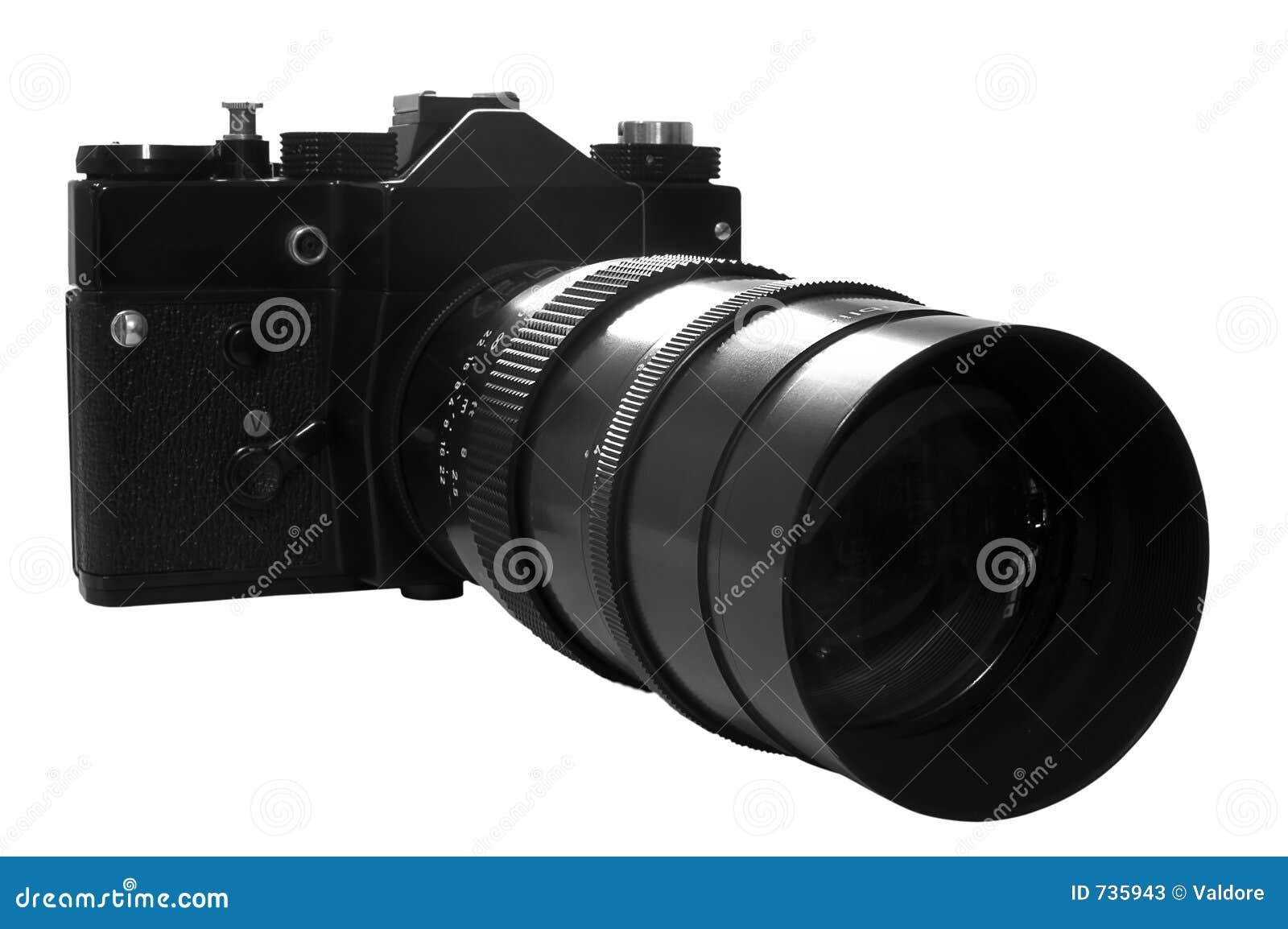 Rétro appareil-photo de SLR dans le b&w