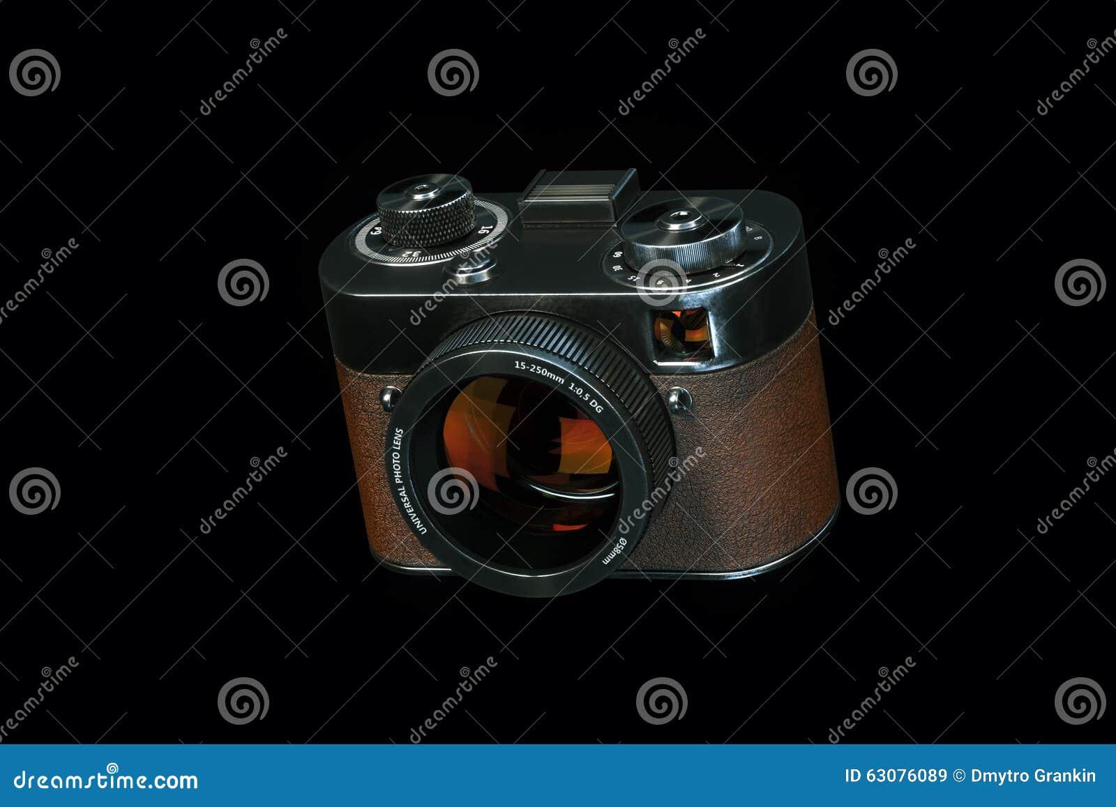 Download Rétro Appareil Photo Numérique De Style D'isolement Sur La Droite Noire Vi De Fond Illustration Stock - Illustration du fond, brun: 63076089