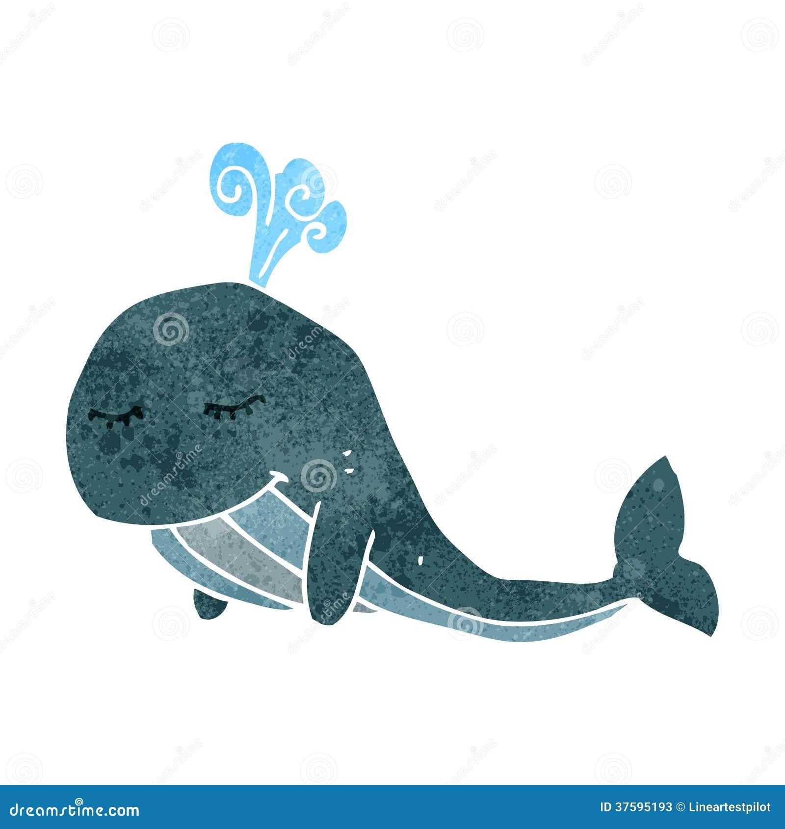 Rétro baleine de bande dessinée