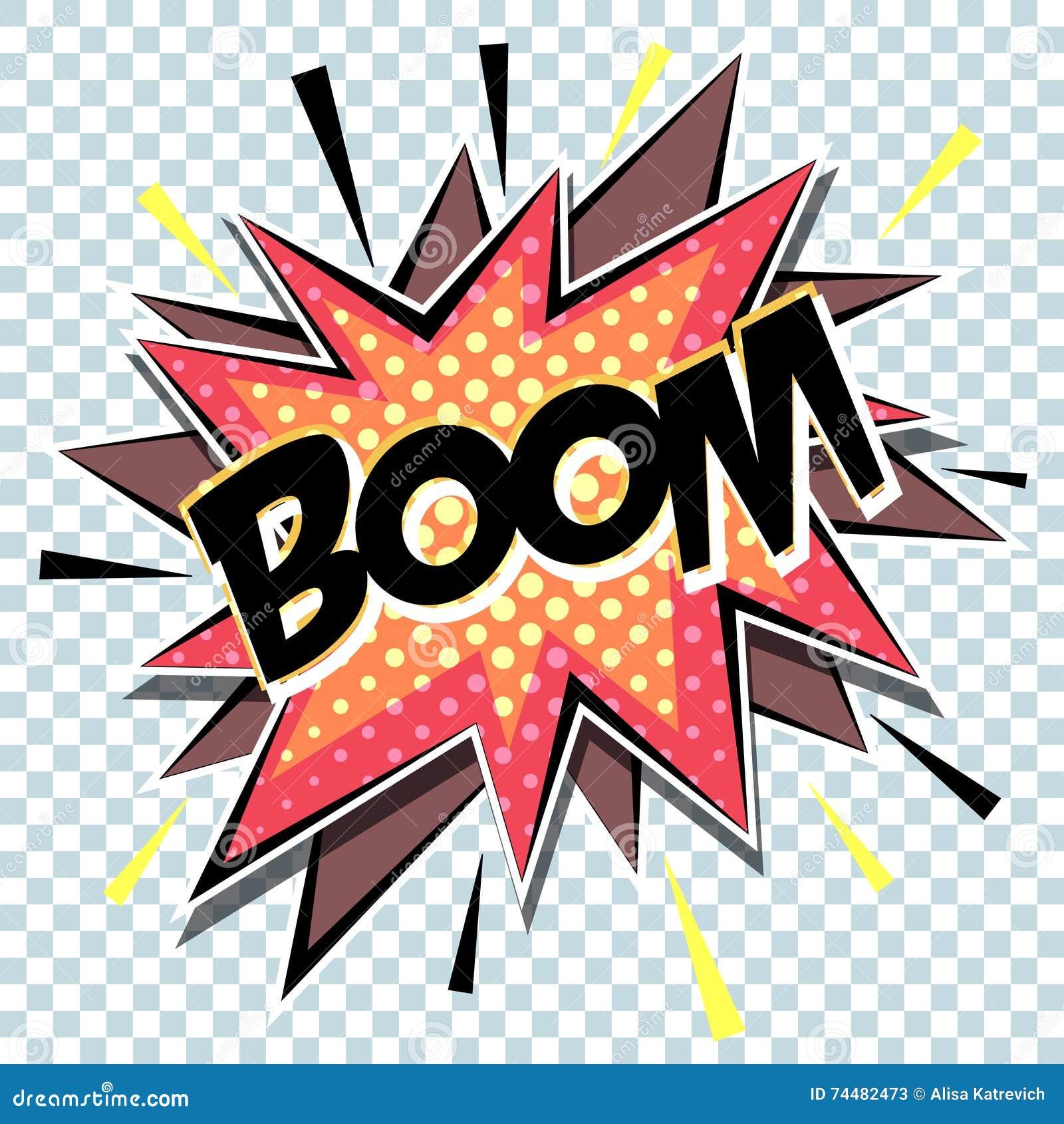 Rétro Boom Comique D'art De Bruit D'explosion De Bande