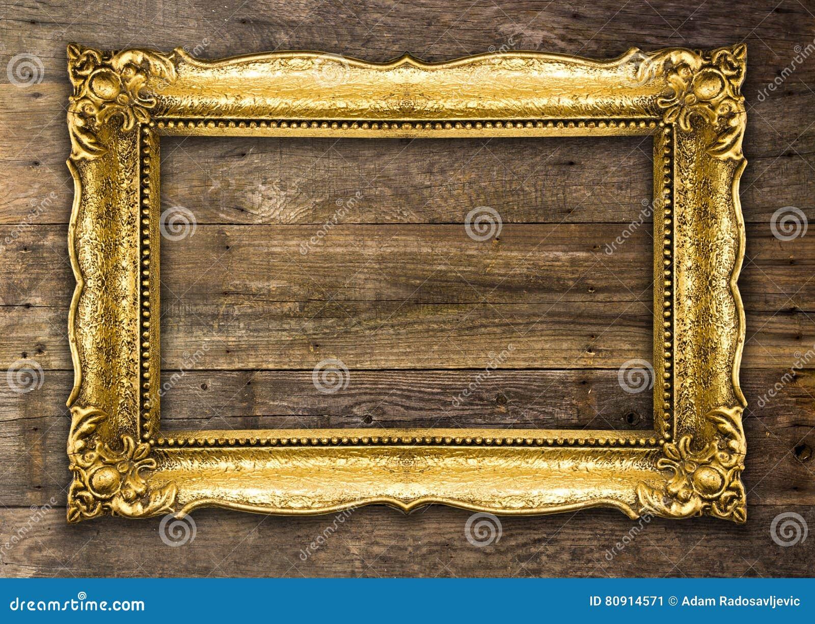 r tro cadre de tableau de vieil or de renaissance image stock image du d coup image 80914571. Black Bedroom Furniture Sets. Home Design Ideas