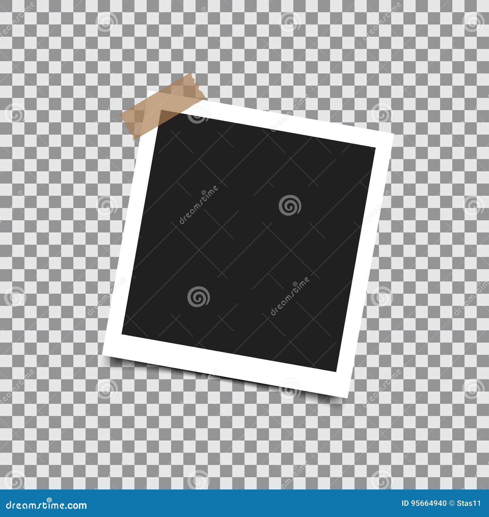 Cadre Vide rétro cadre vide de photo avec la bande collante sur un fond