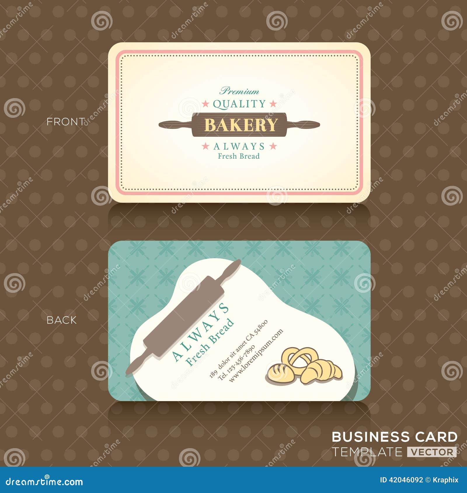 Rtro Carte De Visite Professionnelle Vintage Pour La Maison Boulangerie