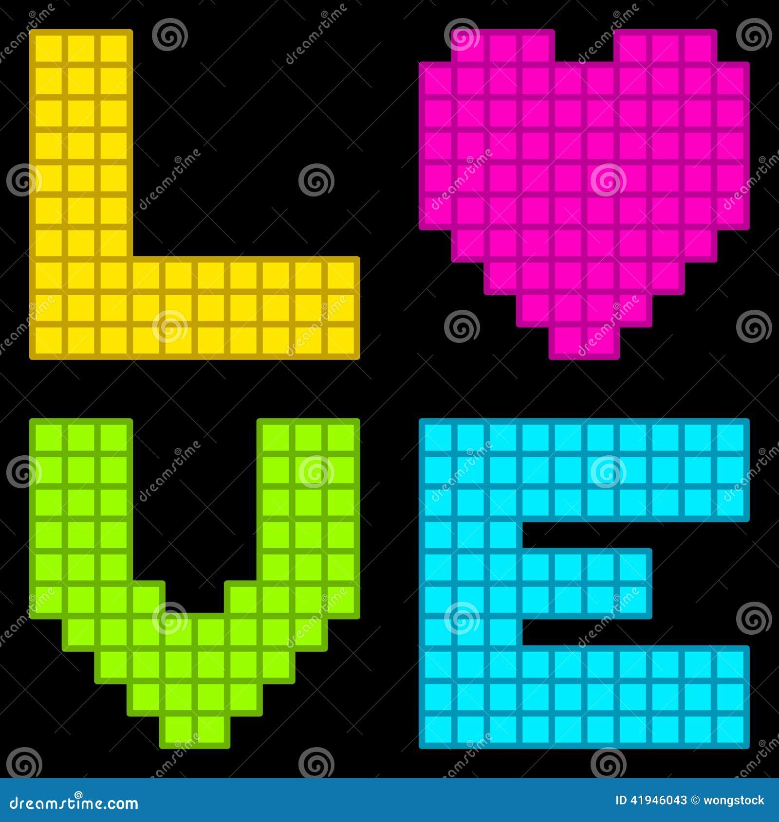 r tro coeur 8 bits d 39 amour de pixel illustration de vecteur illustration du pixel amiti. Black Bedroom Furniture Sets. Home Design Ideas