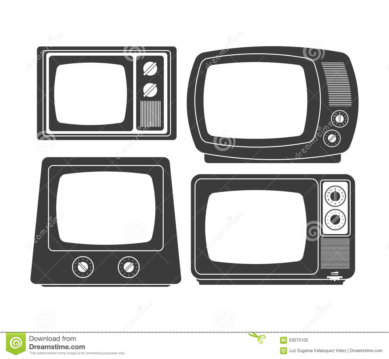 Download Rétro Conception De Télévision Illustration de Vecteur - Illustration du medias, illustration: 63075105