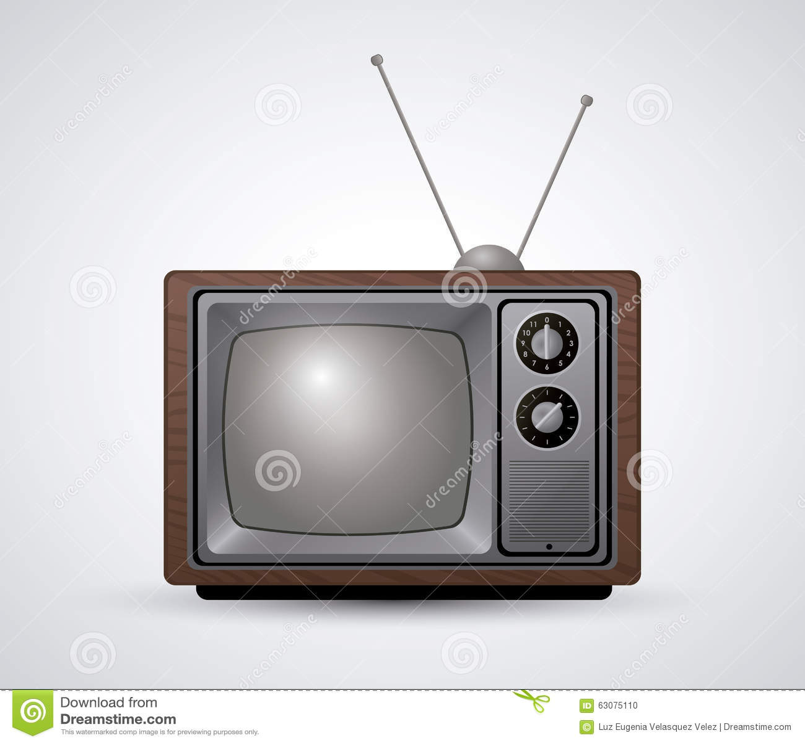 Download Rétro Conception De Télévision Illustration de Vecteur - Illustration du illustration, affichage: 63075110
