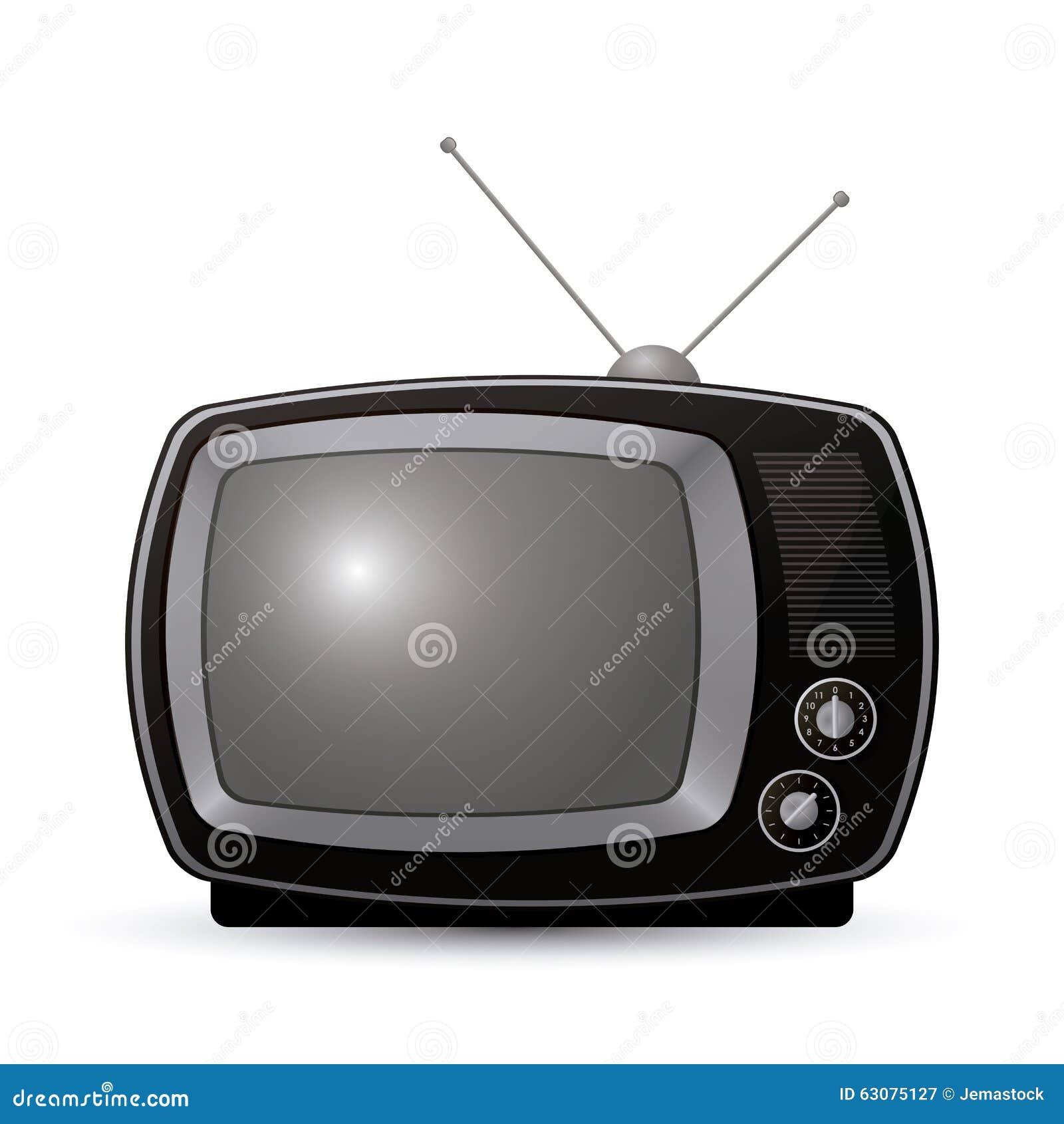 Download Rétro Conception De Télévision Illustration de Vecteur - Illustration du écran, télévision: 63075127