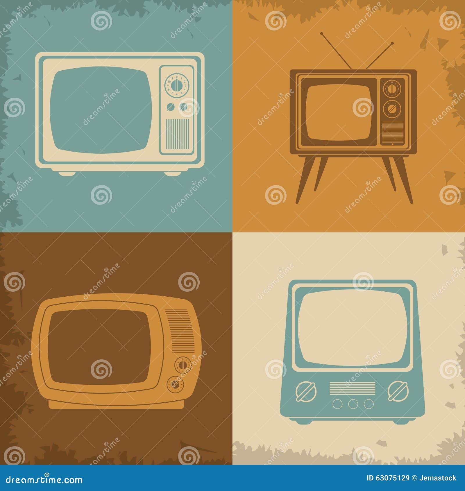 Download Rétro Conception De Télévision Illustration de Vecteur - Illustration du home, programme: 63075129