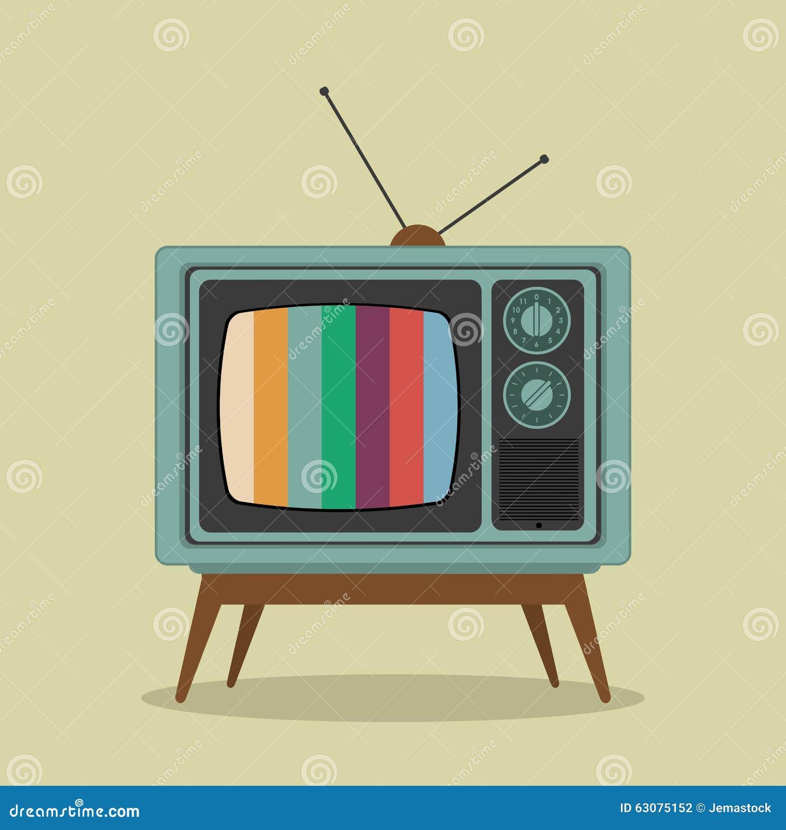 Download Rétro Conception De Télévision Illustration de Vecteur - Illustration du vecteur, illustration: 63075152