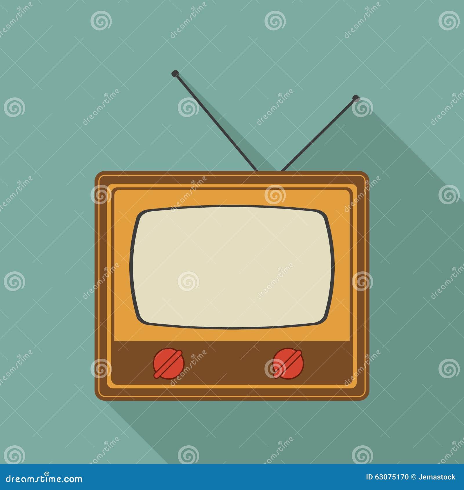 Download Rétro Conception De Télévision Illustration de Vecteur - Illustration du rétro, type: 63075170