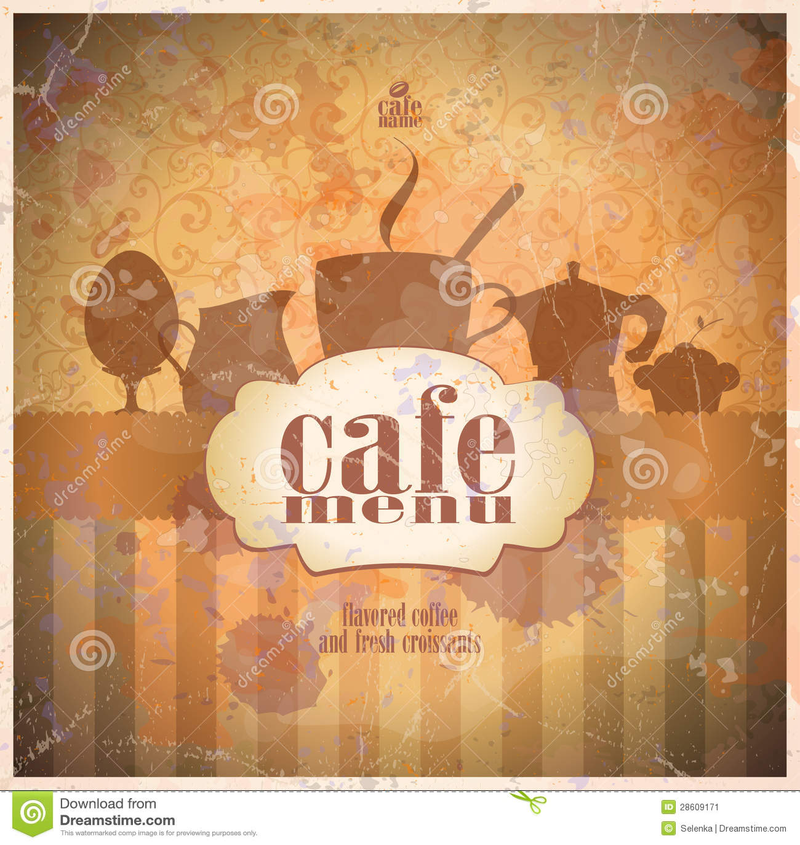 Rétro design de carte de carte de restaurant.