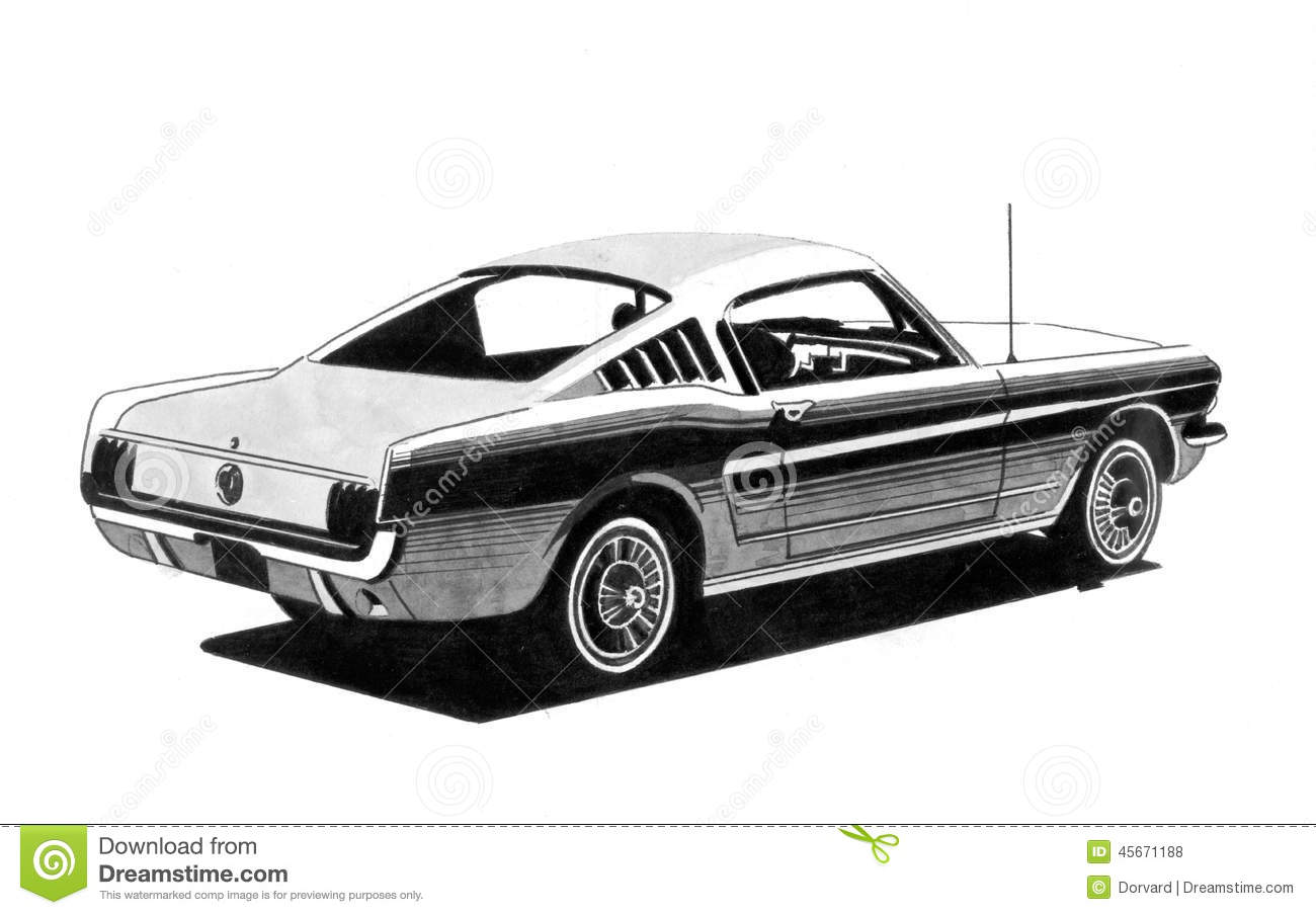 R tro dessin de voiture de sport illustration stock illustration du technologie dessin 45671188 - Voiture de sport dessin ...