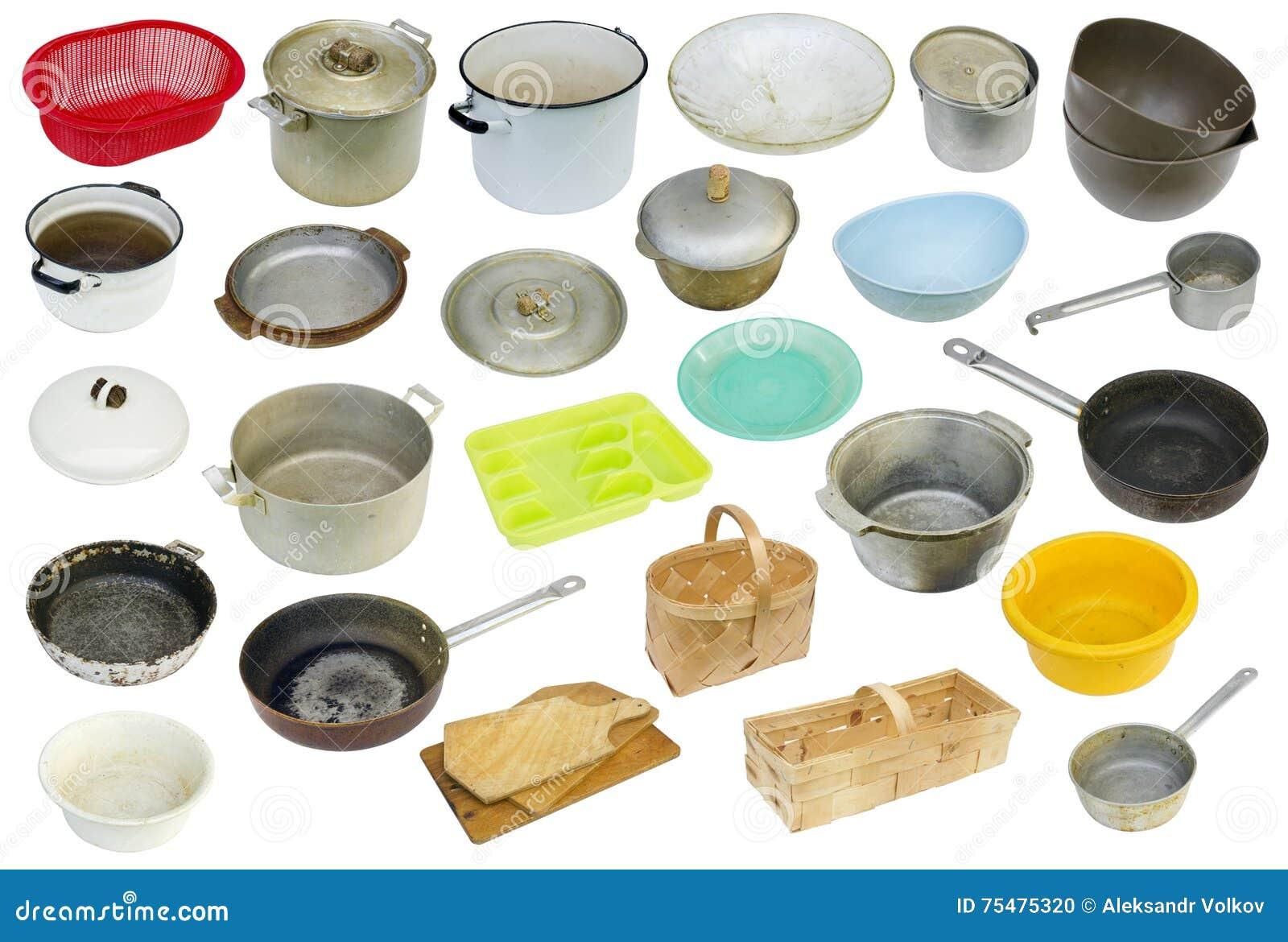 Rétro ensemble utilisé rustique d équipement de cuisine