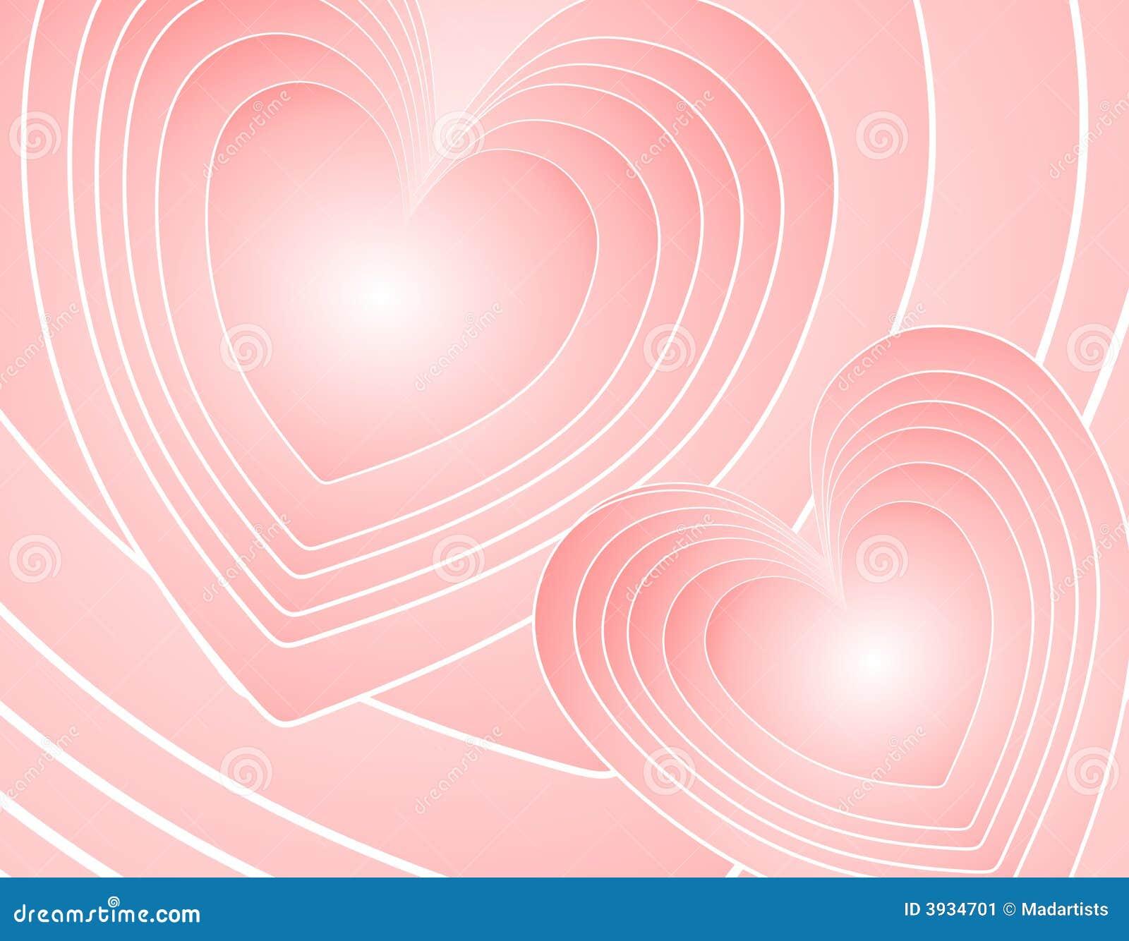 Rétro fond rose abstrait de coeurs