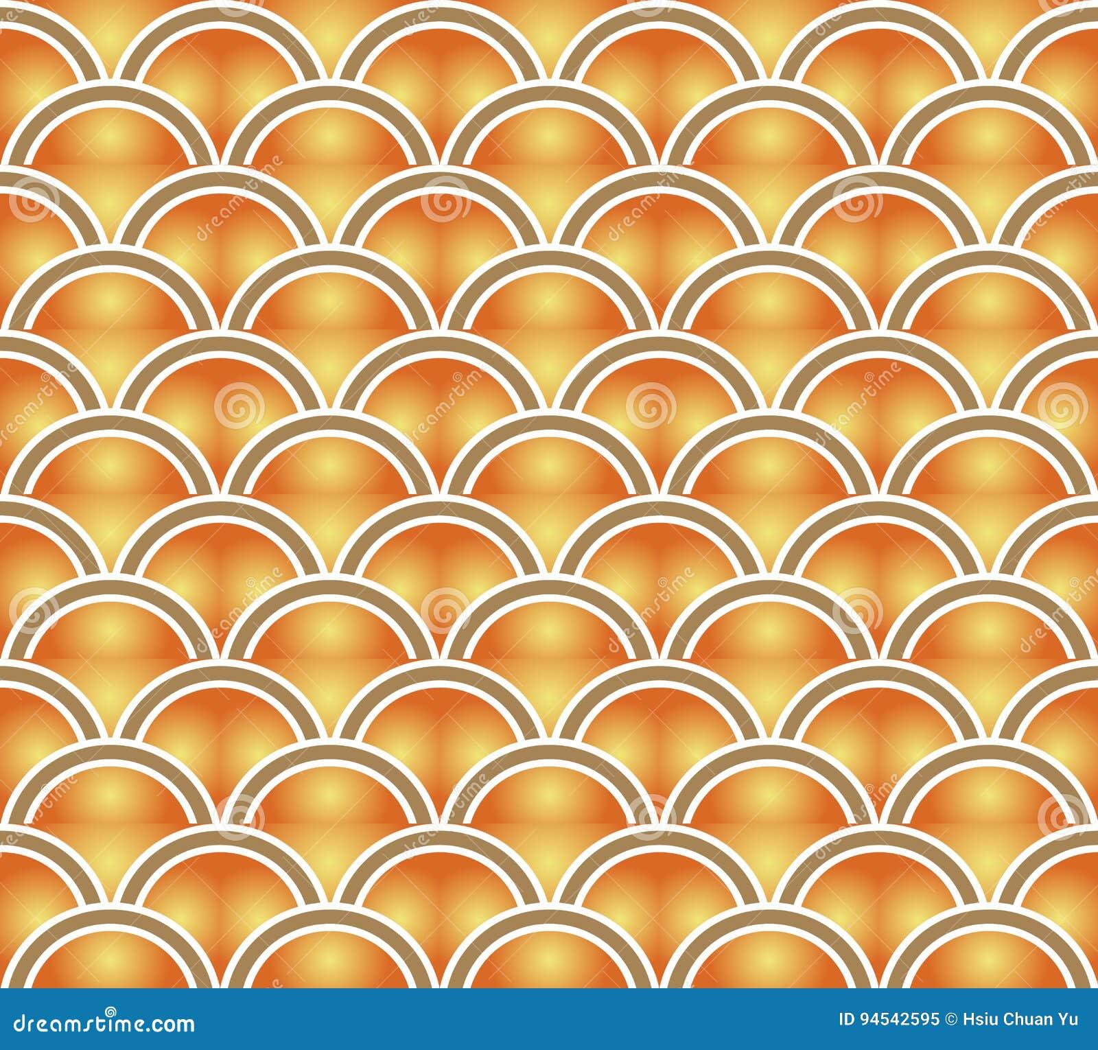 Retro Gradie Sans Couture De Jaune Orange De Vintage De Fond De