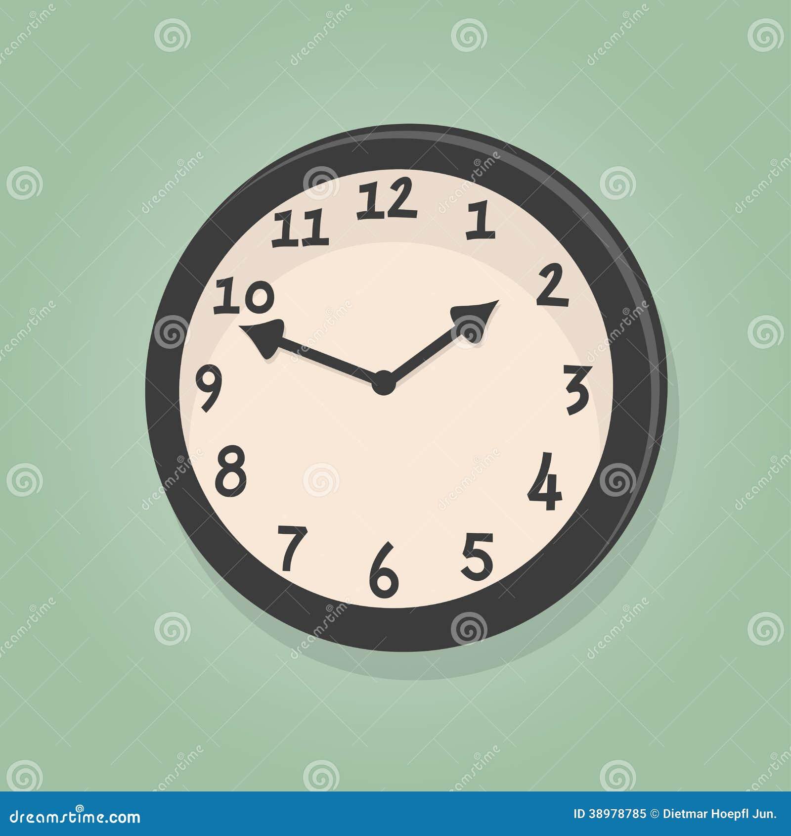 Rétro horloge de bande dessinée