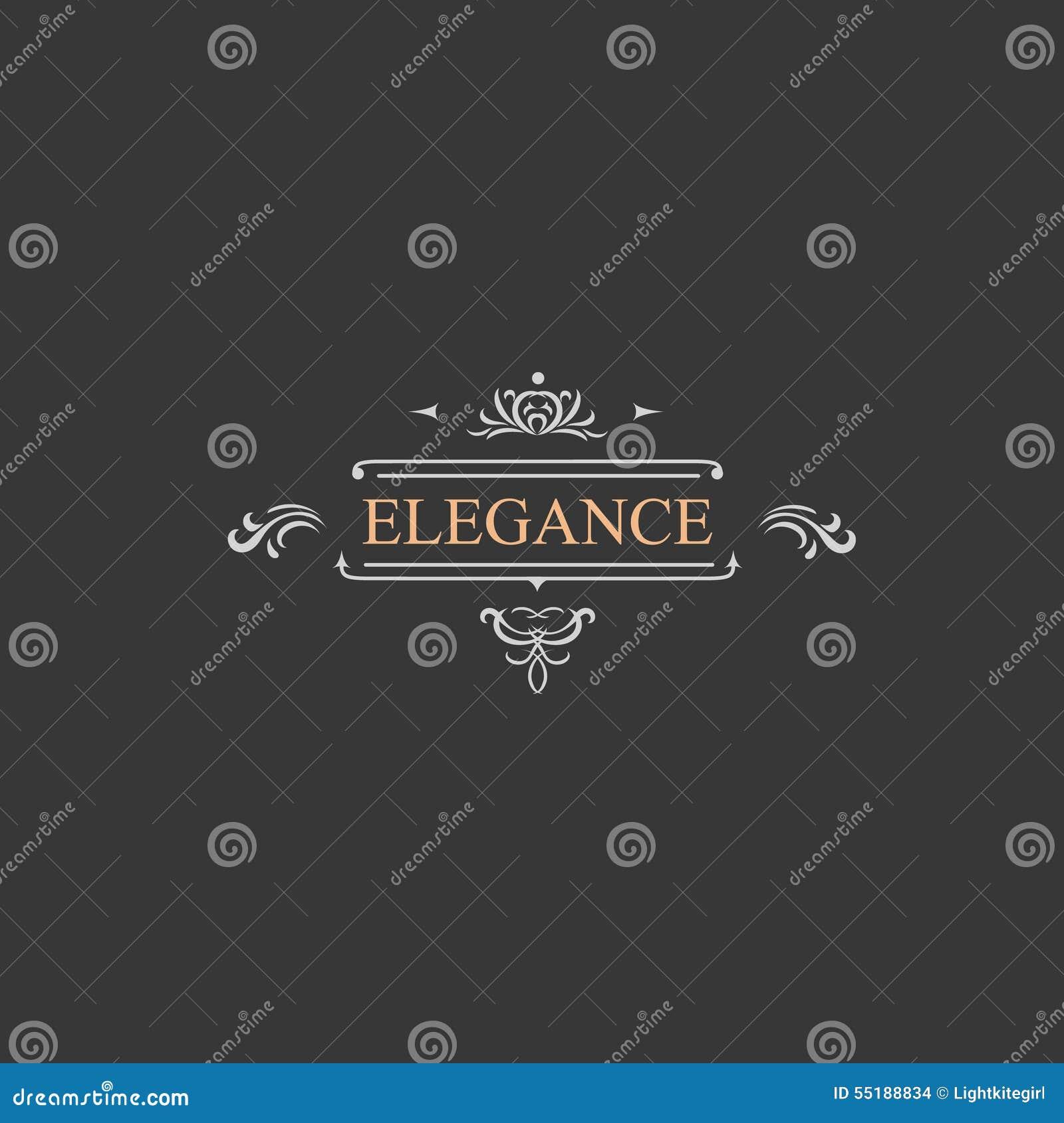 Rétro label de vintage et logo de luxe, restaurant