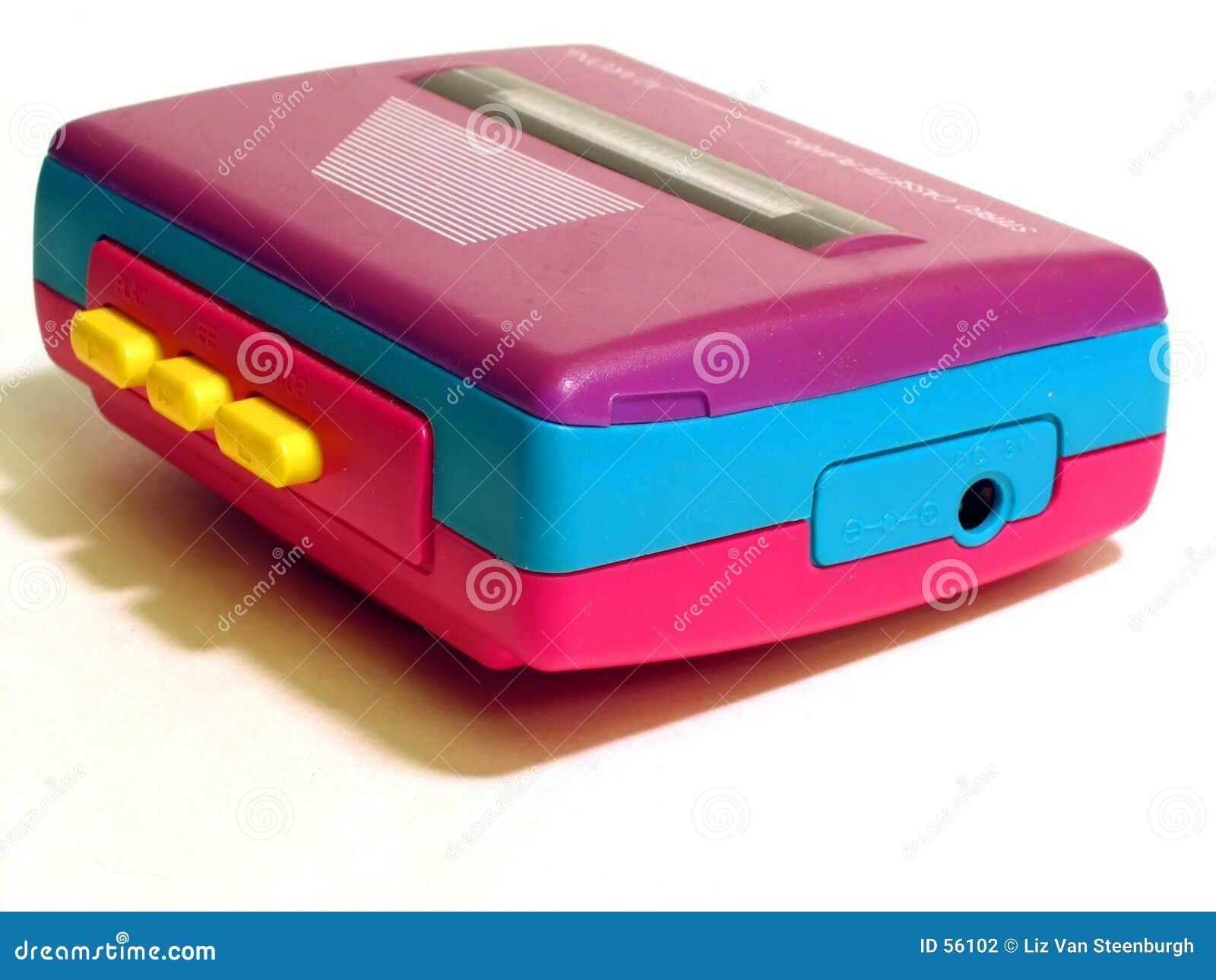 Download Rétro lecteur de cassettes photo stock. Image du rose, musique - 56102