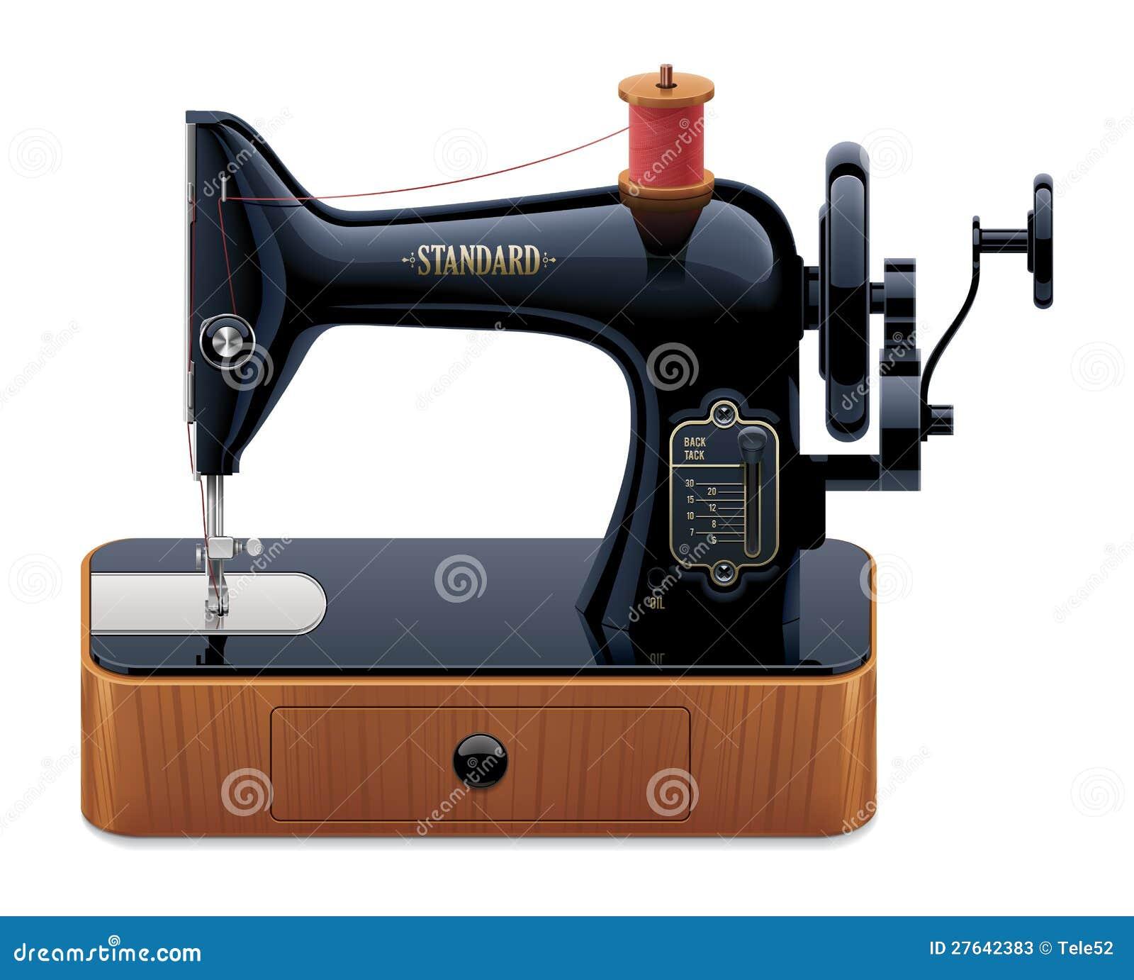 R tro machine coudre de vecteur photos stock image for Machine a coudre 3d