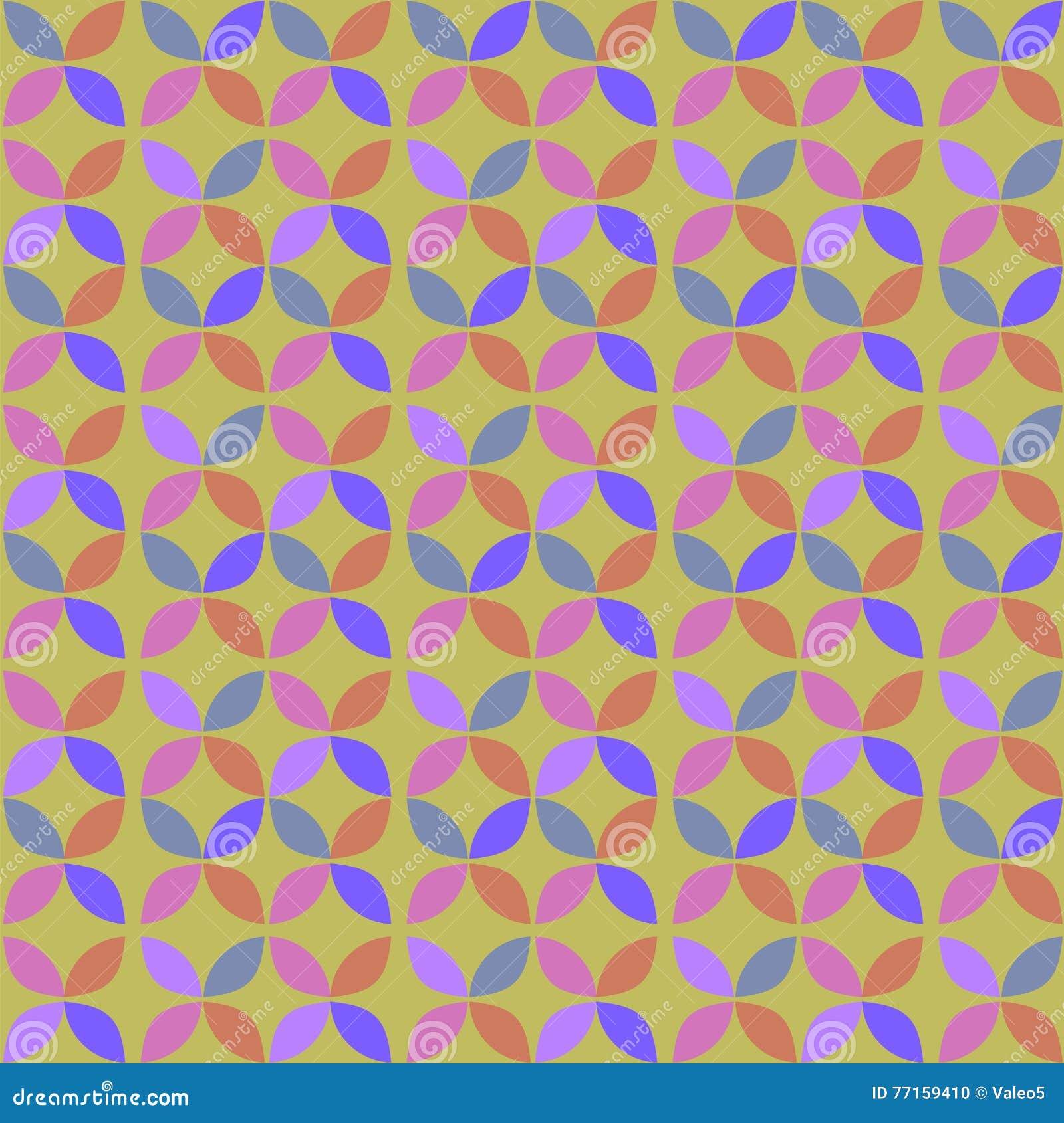 Rétro modèle de cercle géométrique sans couture