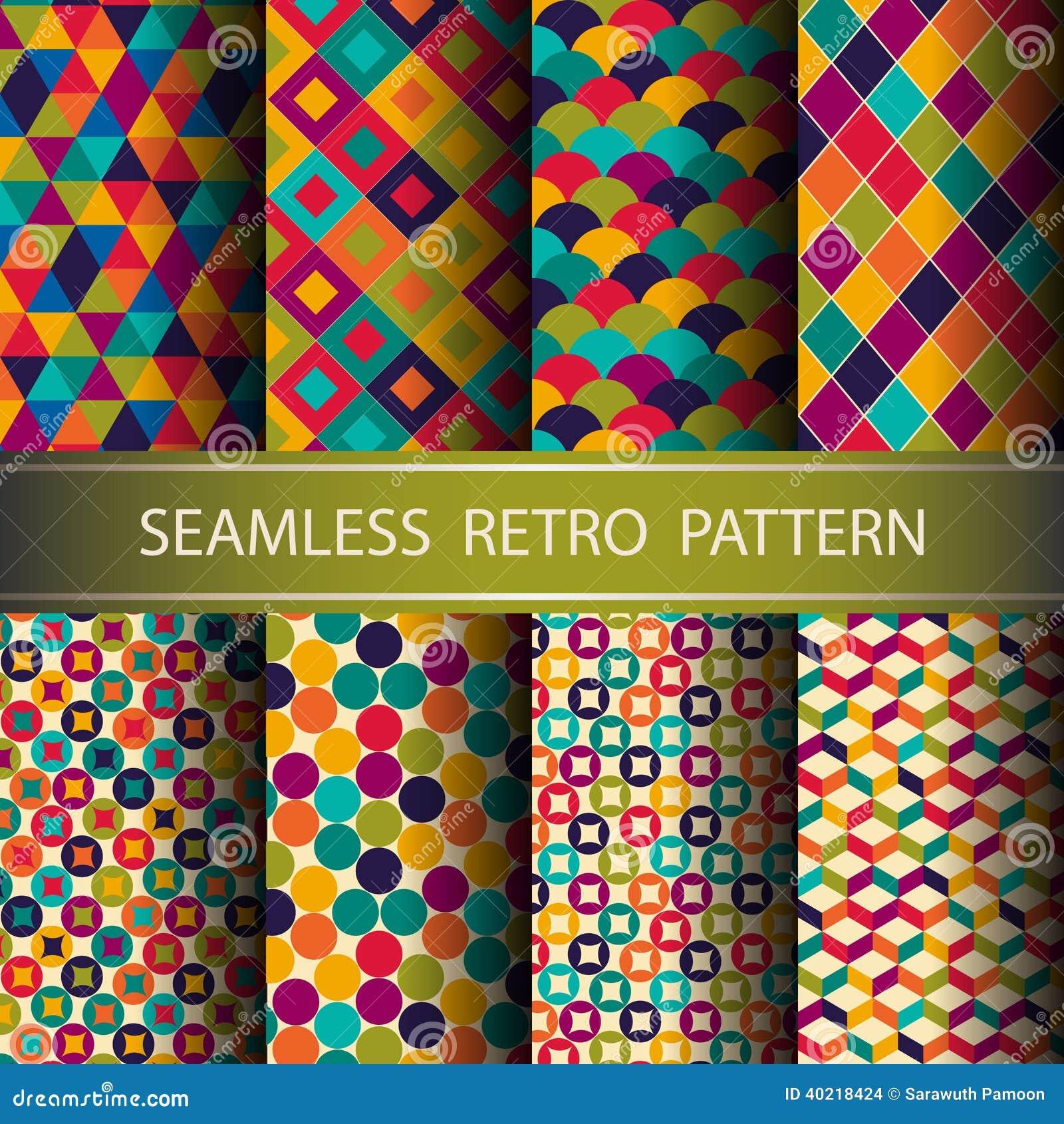 Rétro modèle sans couture géométrique abstrait.