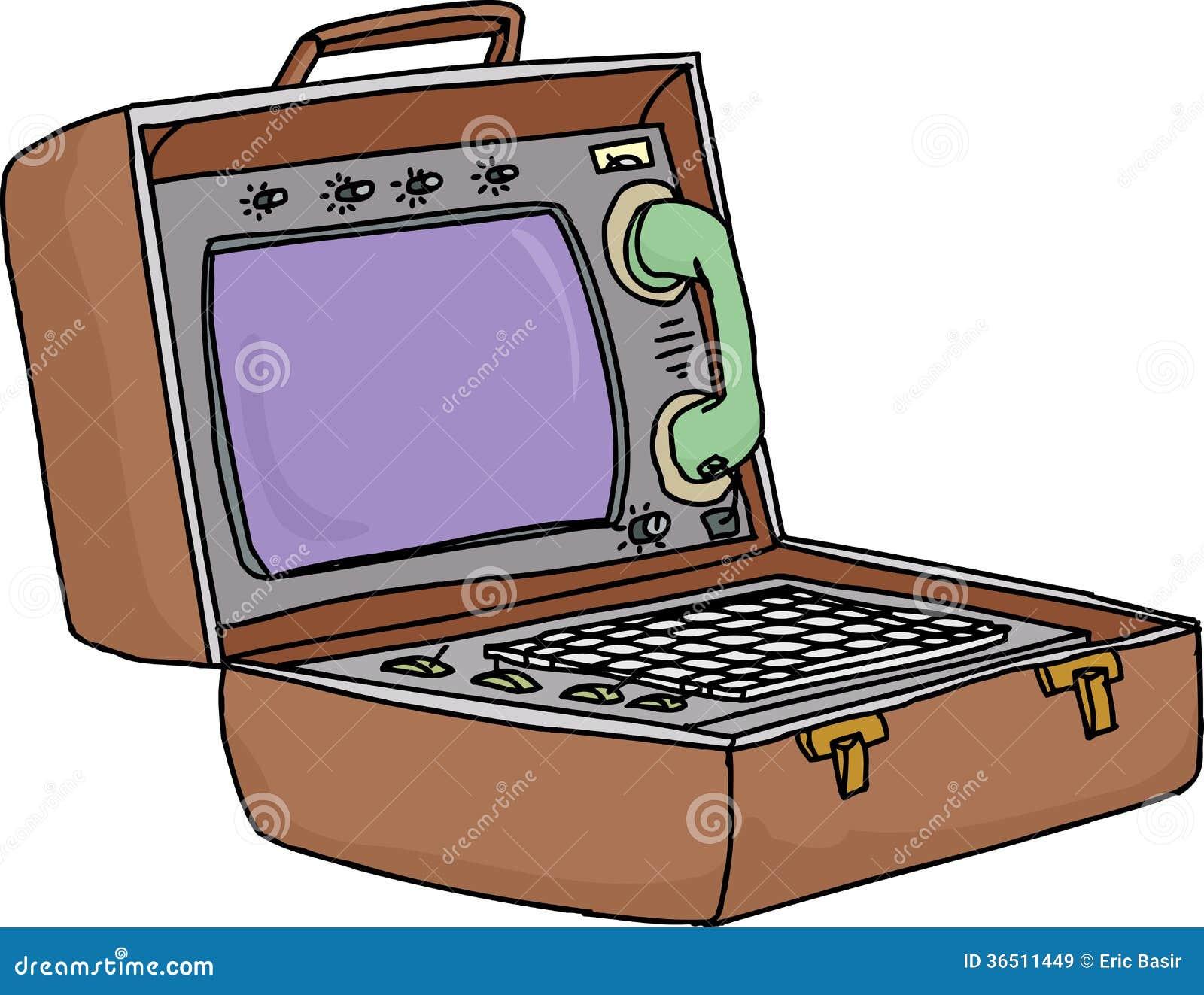 Rétro ordinateur portable