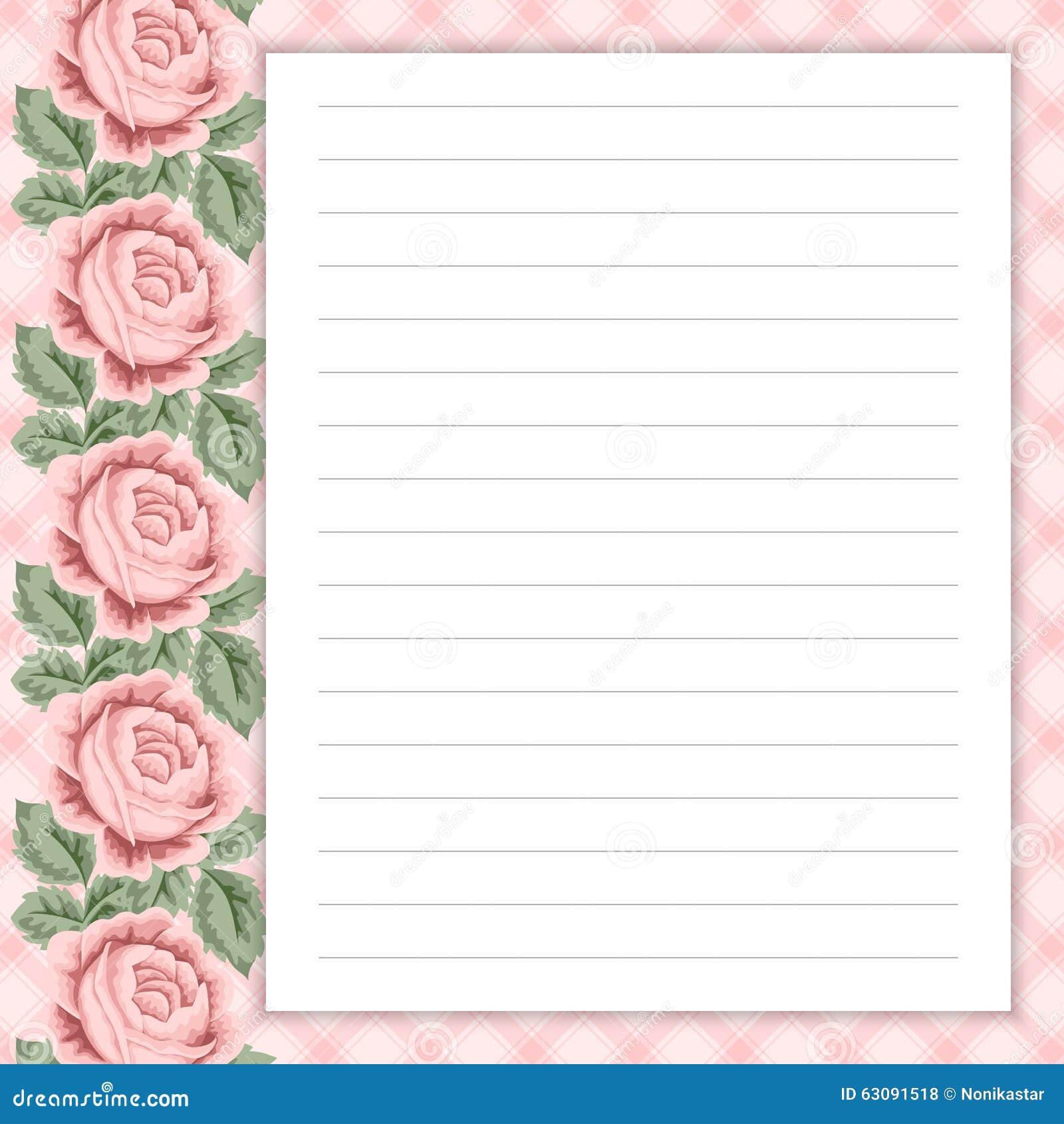 Download Rétro page pour des notes illustration de vecteur. Illustration du décorez - 63091518