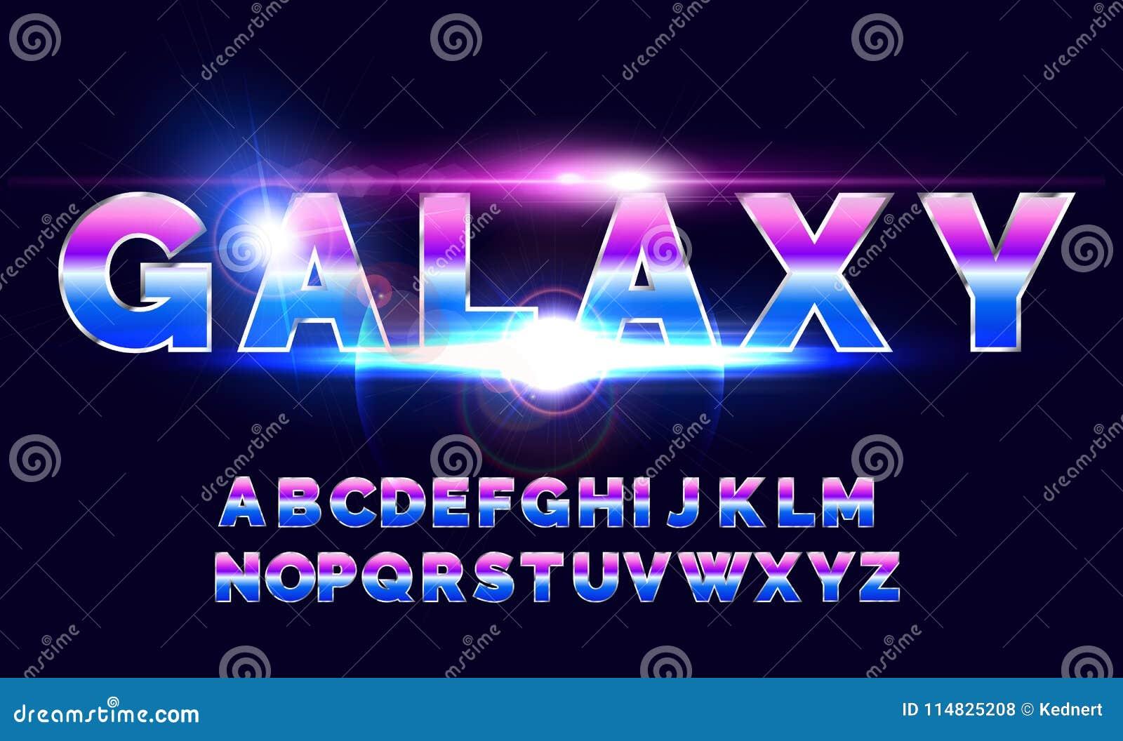Rétro police d alphabet de 80 ` s Style d avenir de la science fiction