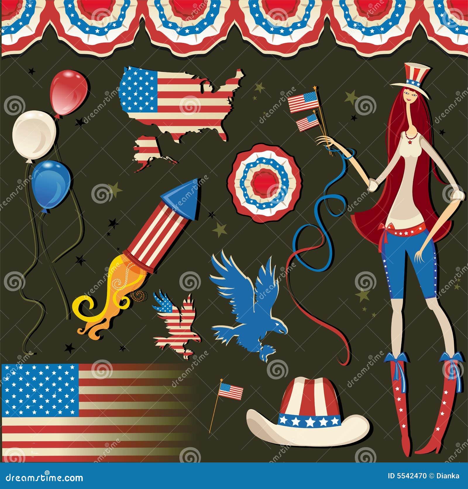 Rétro symbole américain national