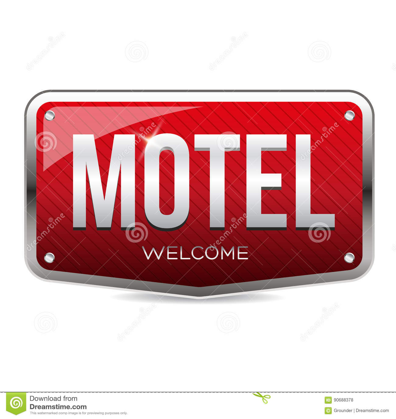 Rétro vecteur de signe de motel