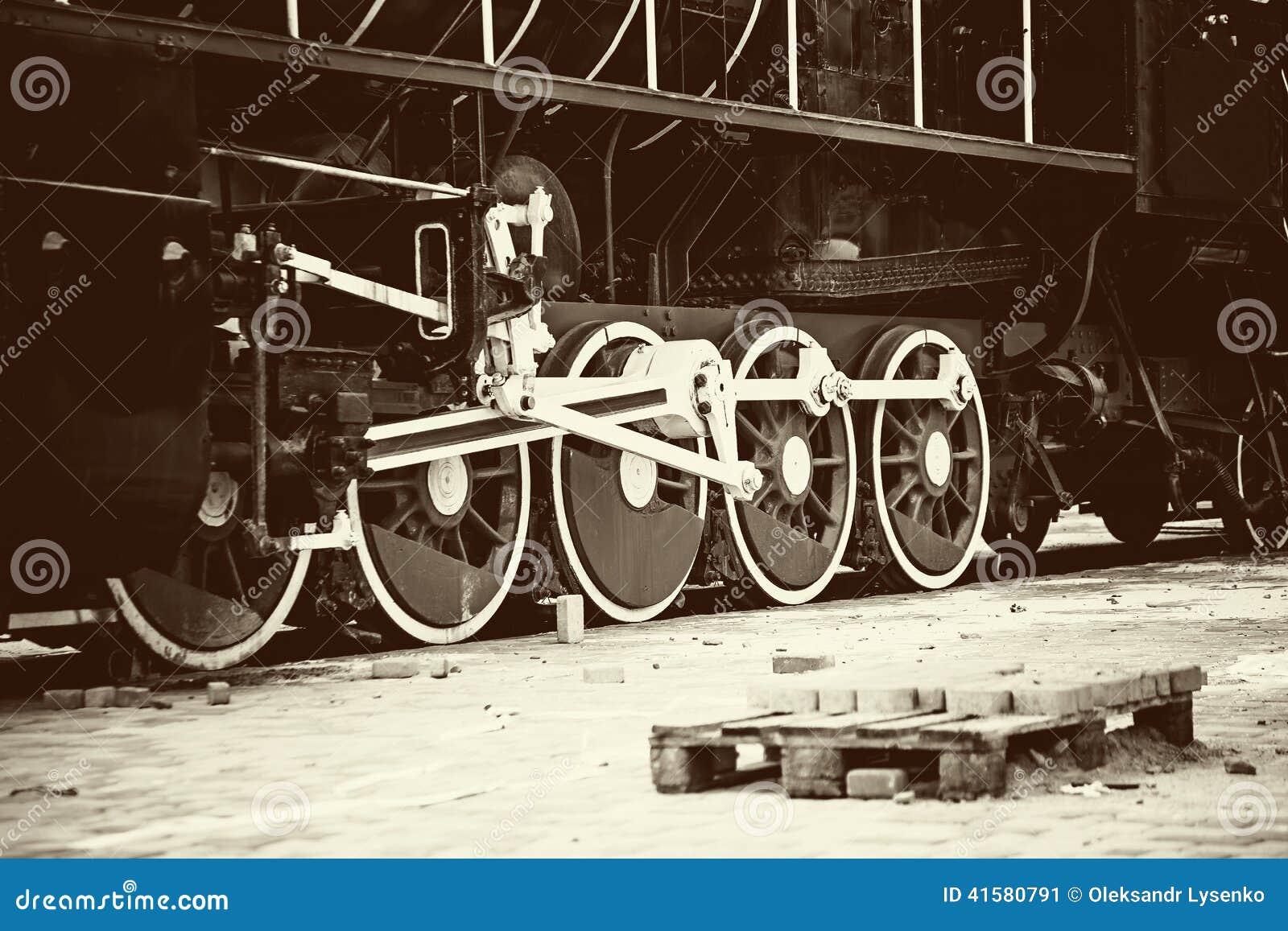 Rétro vieille roue de train