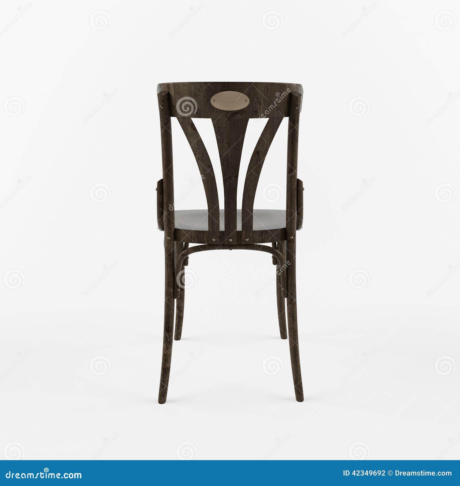 Retro Vue De Dos Chaise 3 D