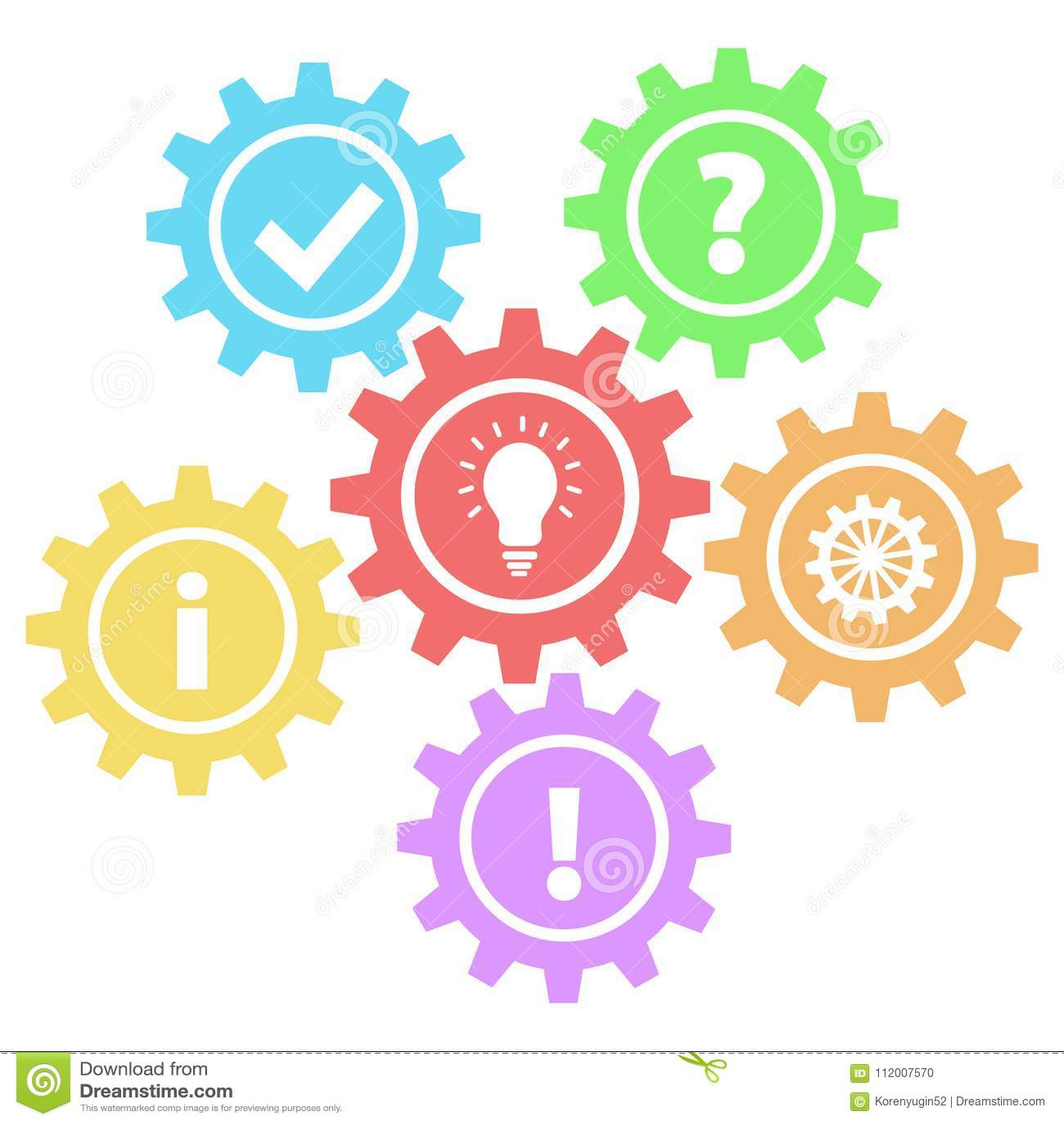6 rétros vitesses interrogent, fonctionnent, idée, infos, ok et réponse sur le blanc,