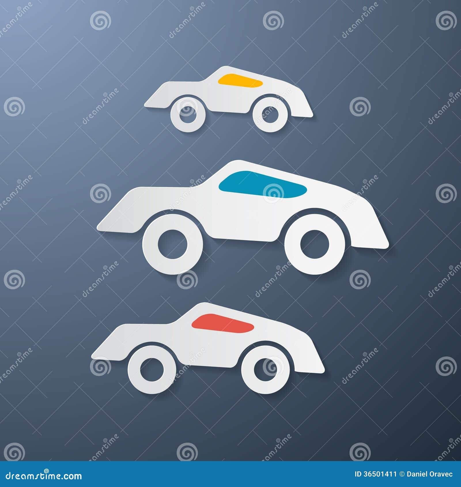 Rétros voitures de papier