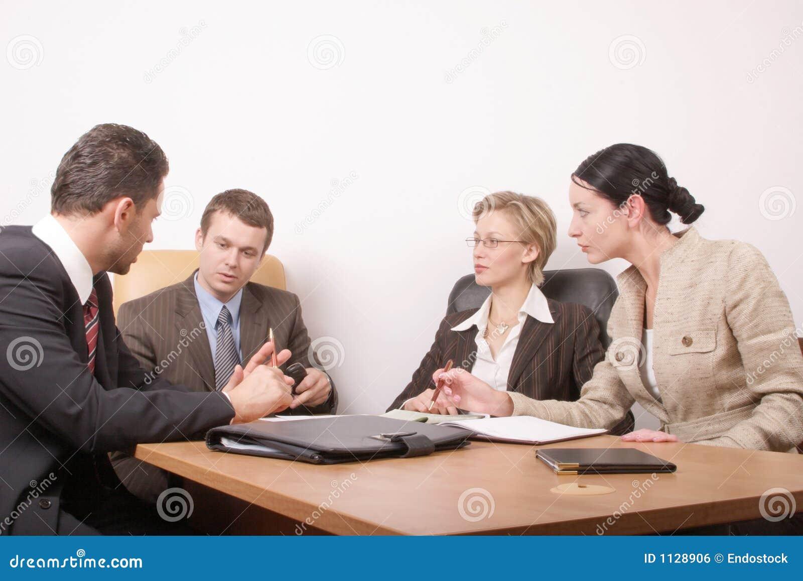 Réunion d affaires de 4 personnes