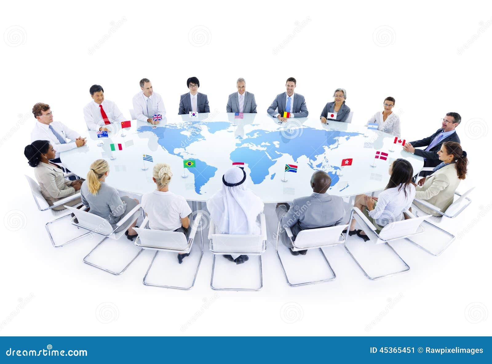 Réunion d affaires globale