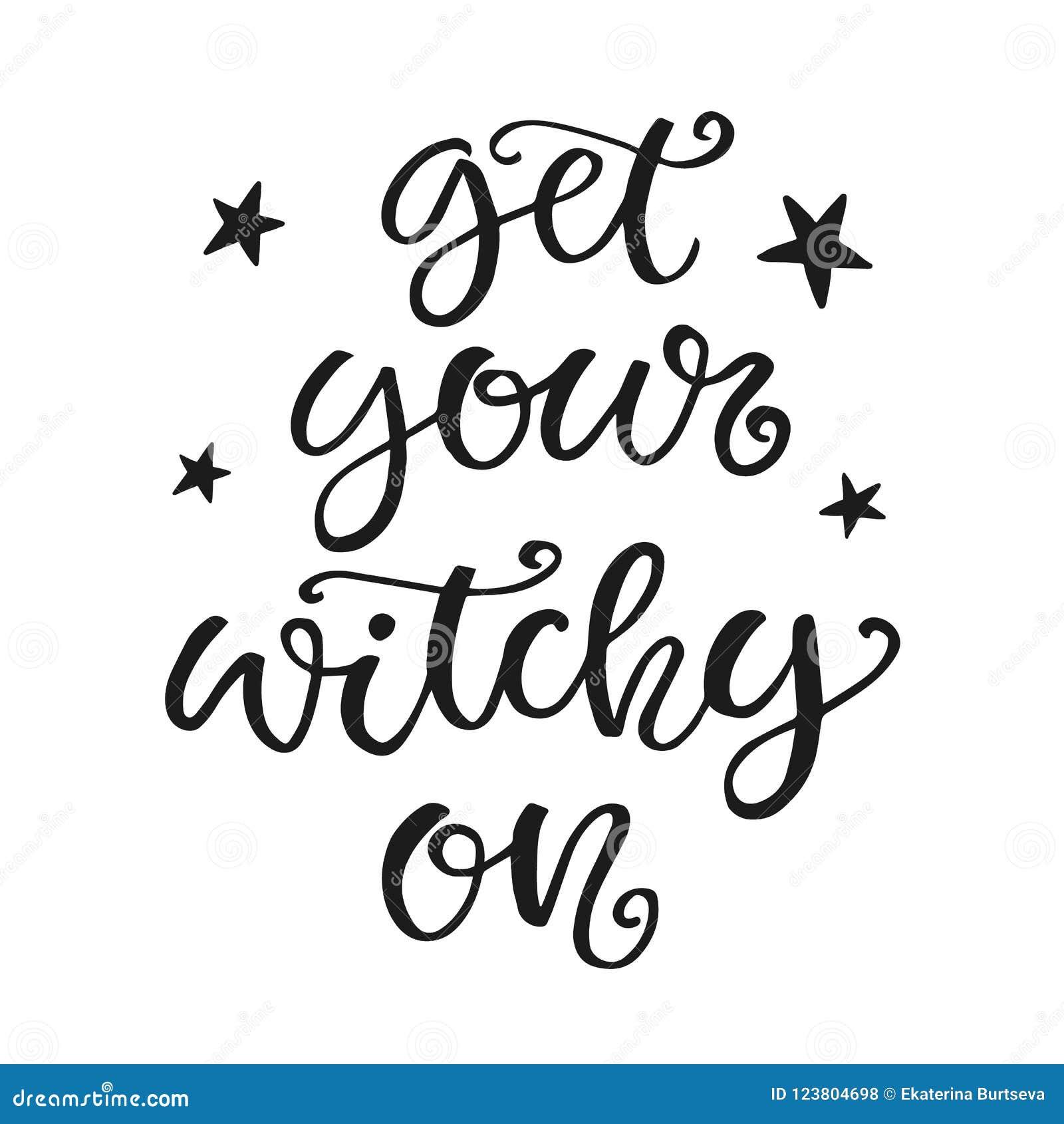 Réussissez votre Witchy Affiche de partie de Halloween