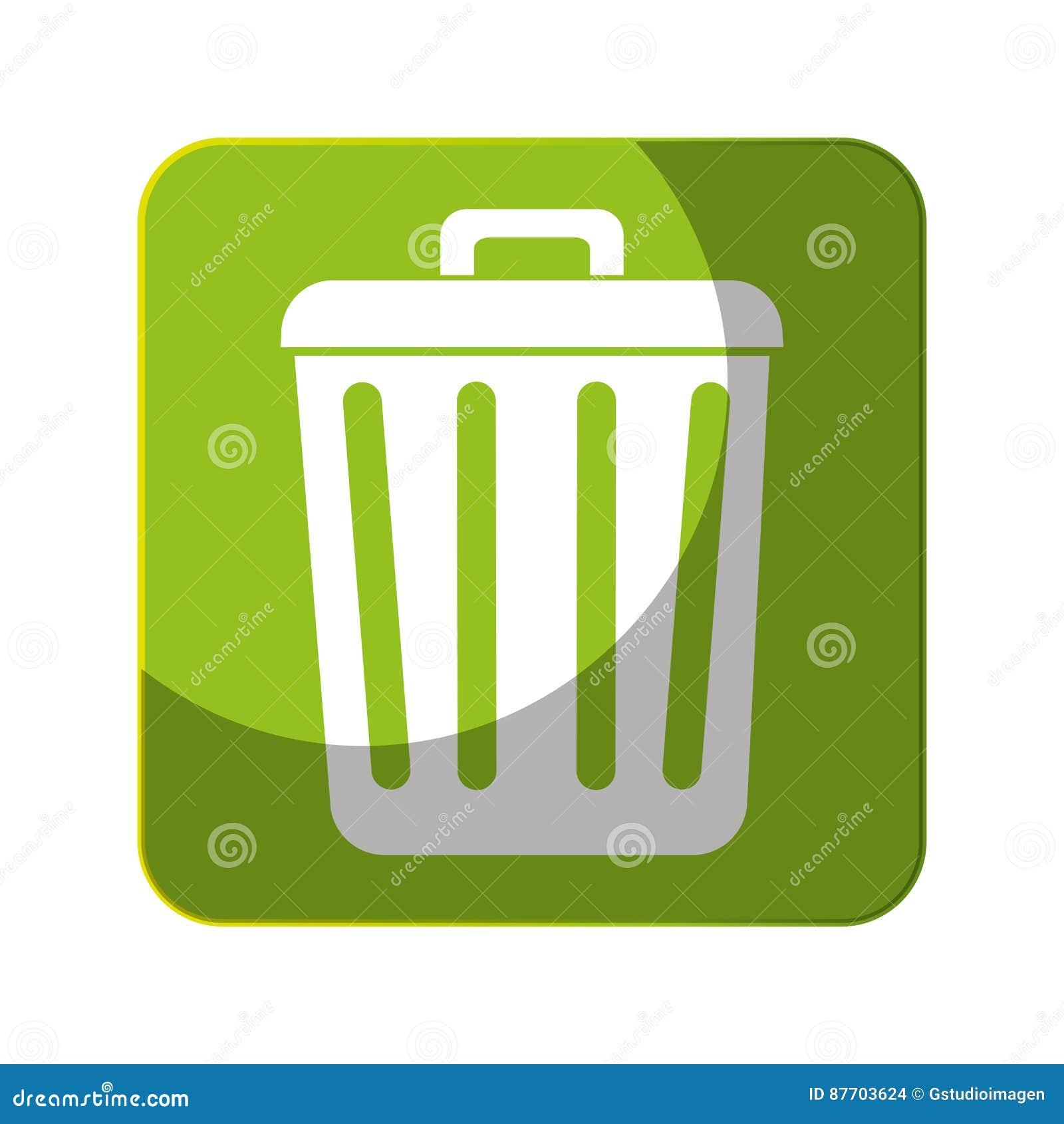 Réutilisez l icône de symbole d écologie de poubelle