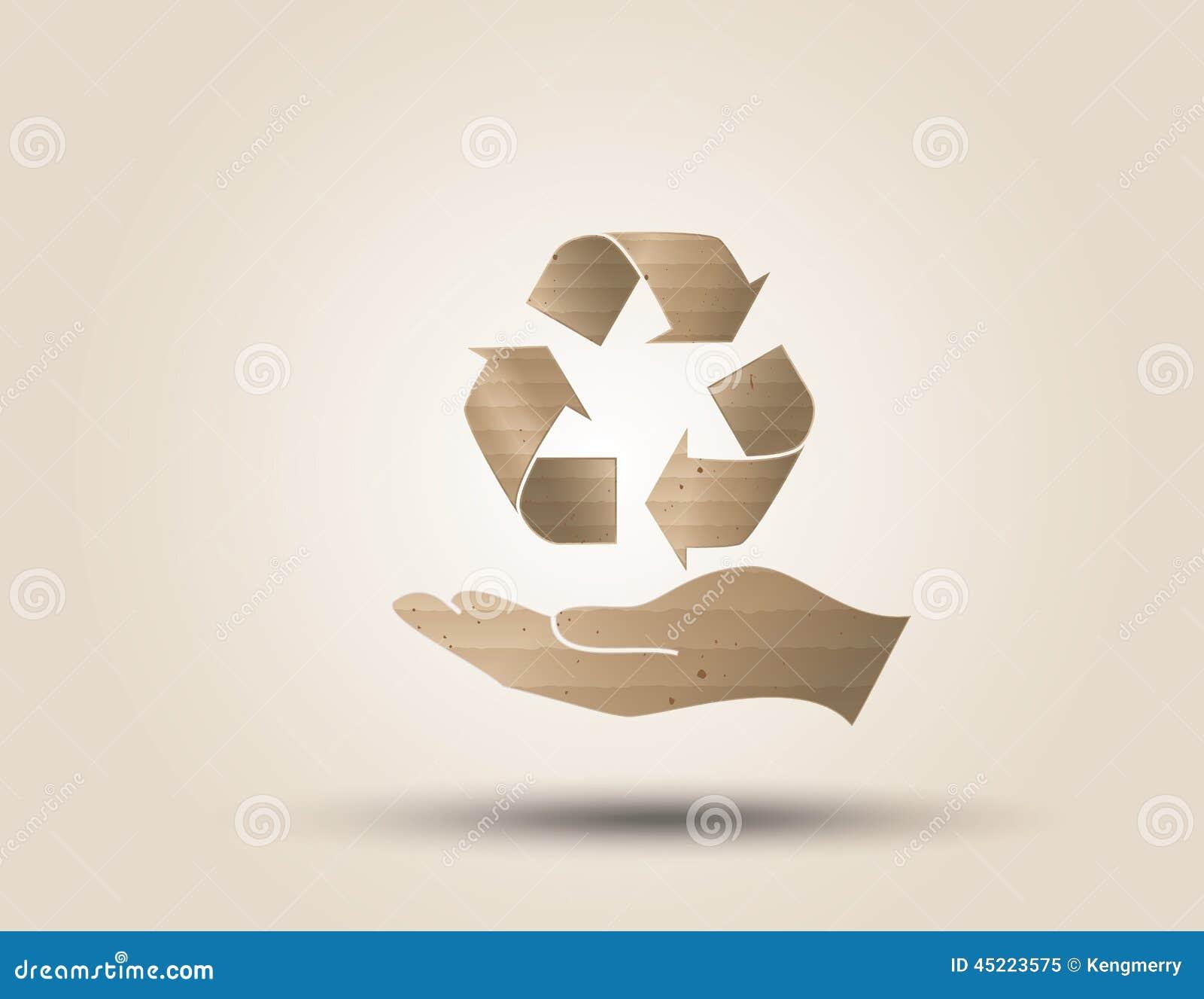 Réutilisez le symbole ou le signe de la conservation