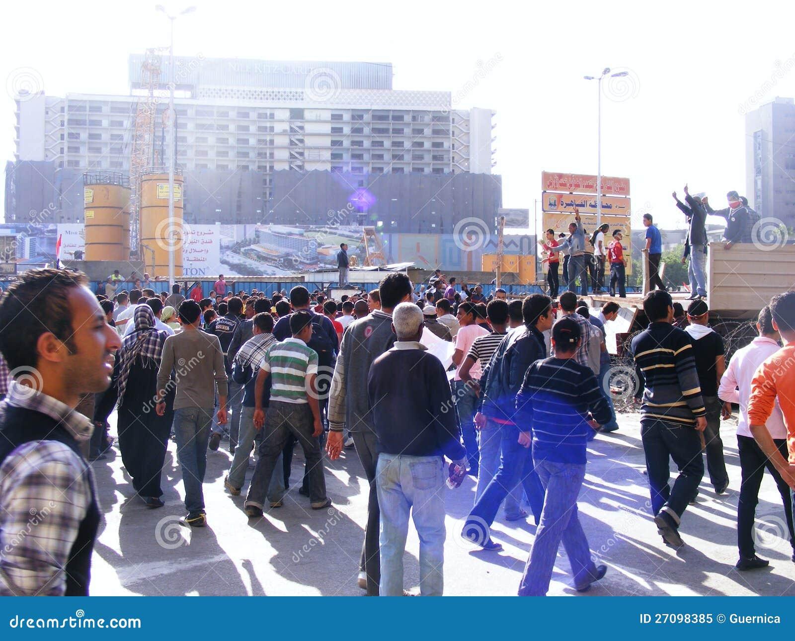 Les gens dans la place de Tahrir