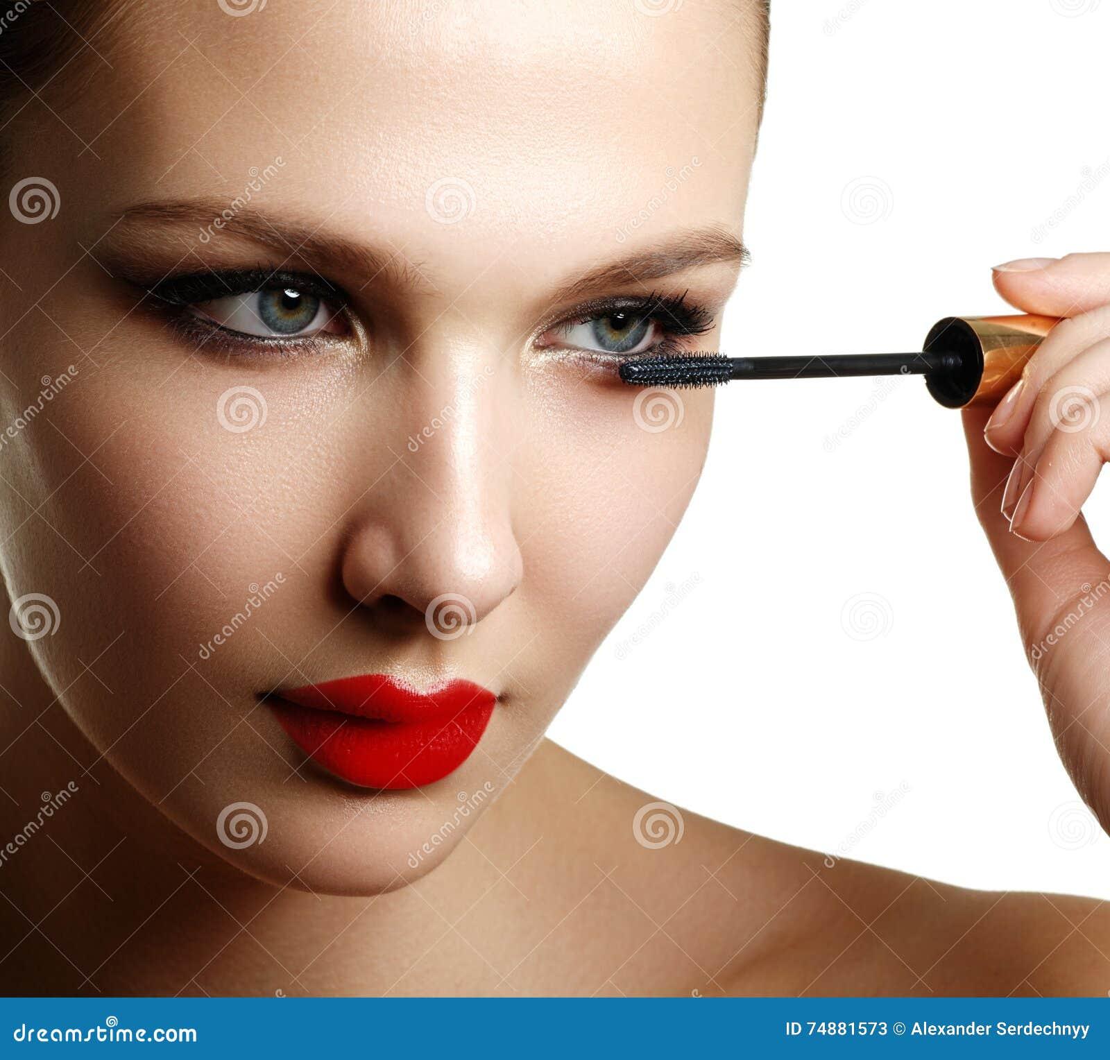Rímel que aplica o close up, chicotes longos Escova do rímel eyelashes