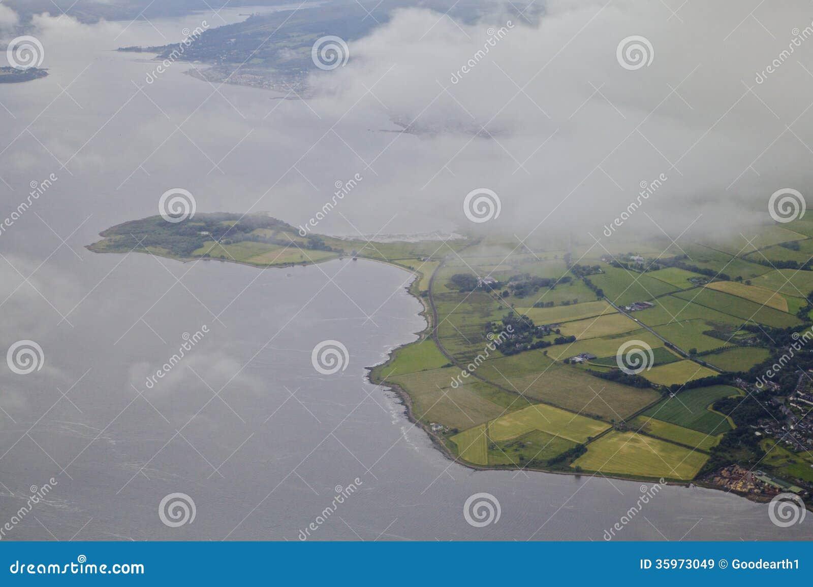 Río de Clyde al oeste de Glasgow
