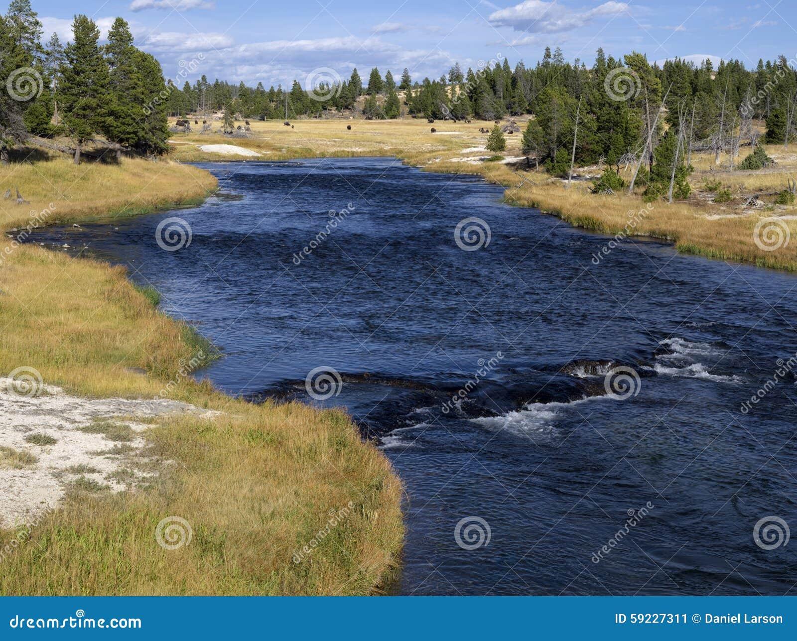 Río de Firehole en lavabo del bolsillo