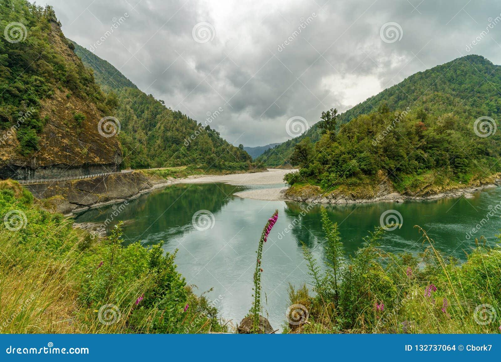 Río en el parque nacional del paso de los arthurs, Nueva Zelanda 1
